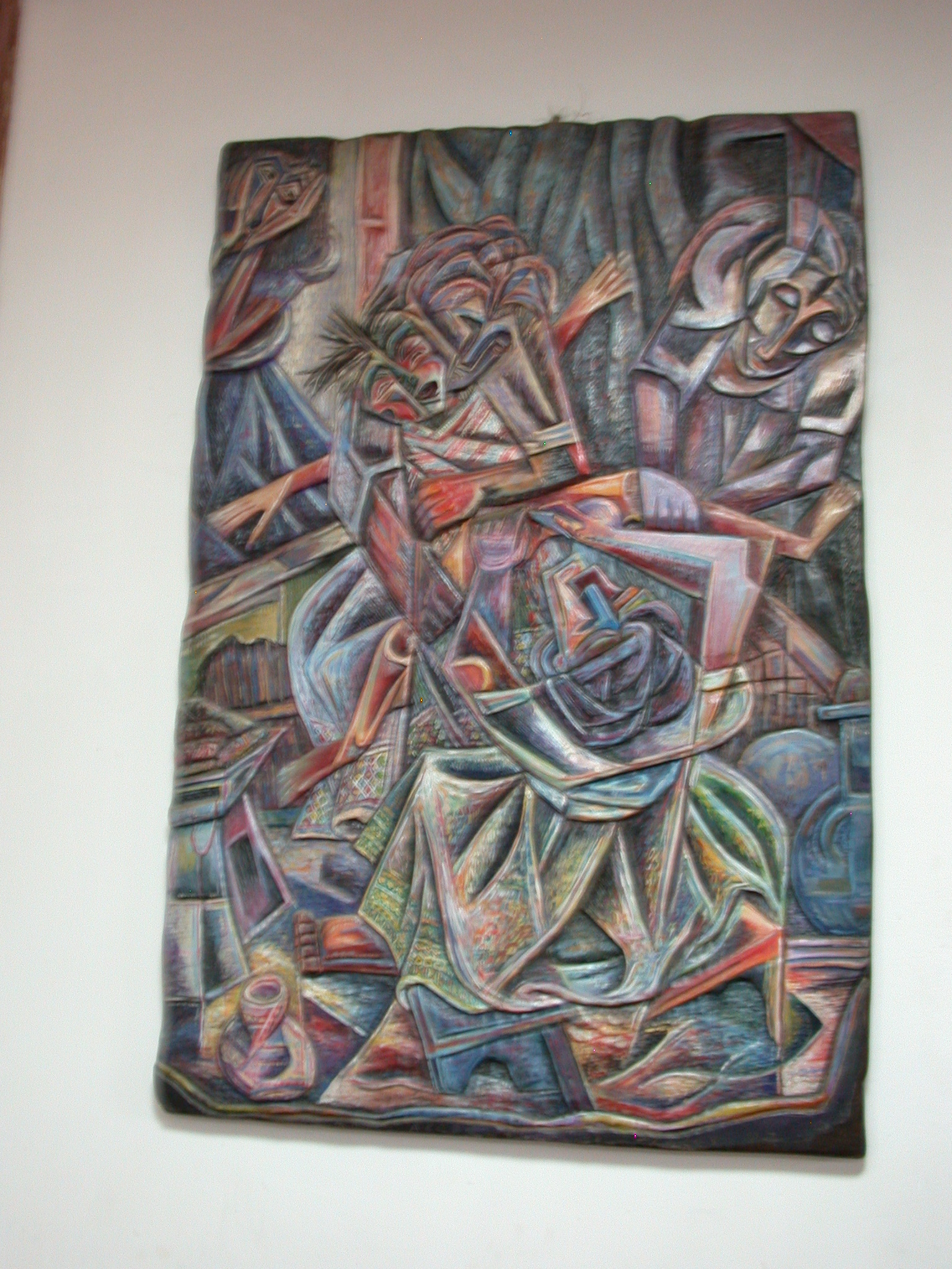 Genital Mutilation Painting by Abebe Zelelew (2003), National Museum, Addis Ababa, Ethiopia