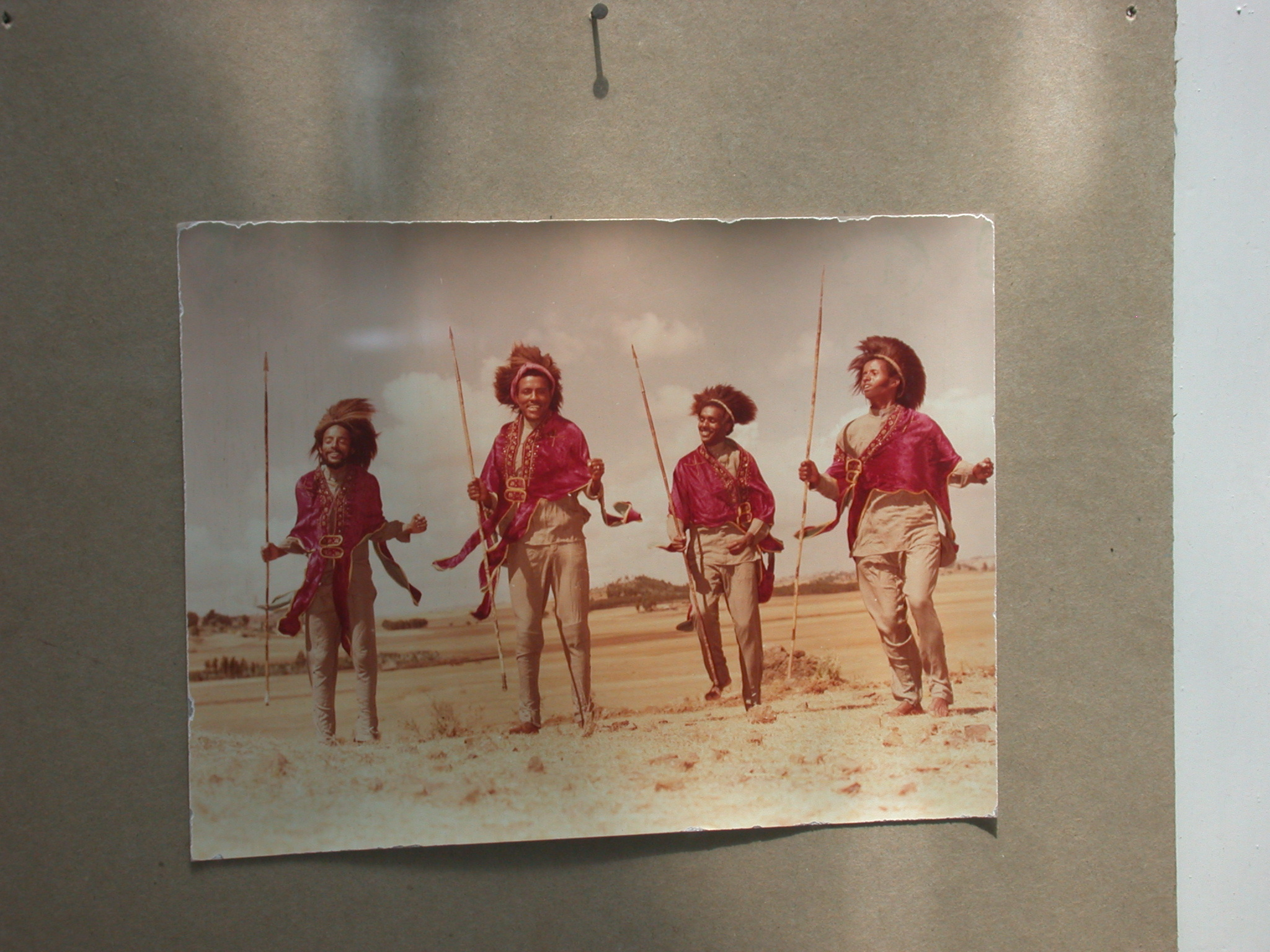 Photo of Ethiopian Tribe Members, National Museum, Addis Ababa, Ethiopia