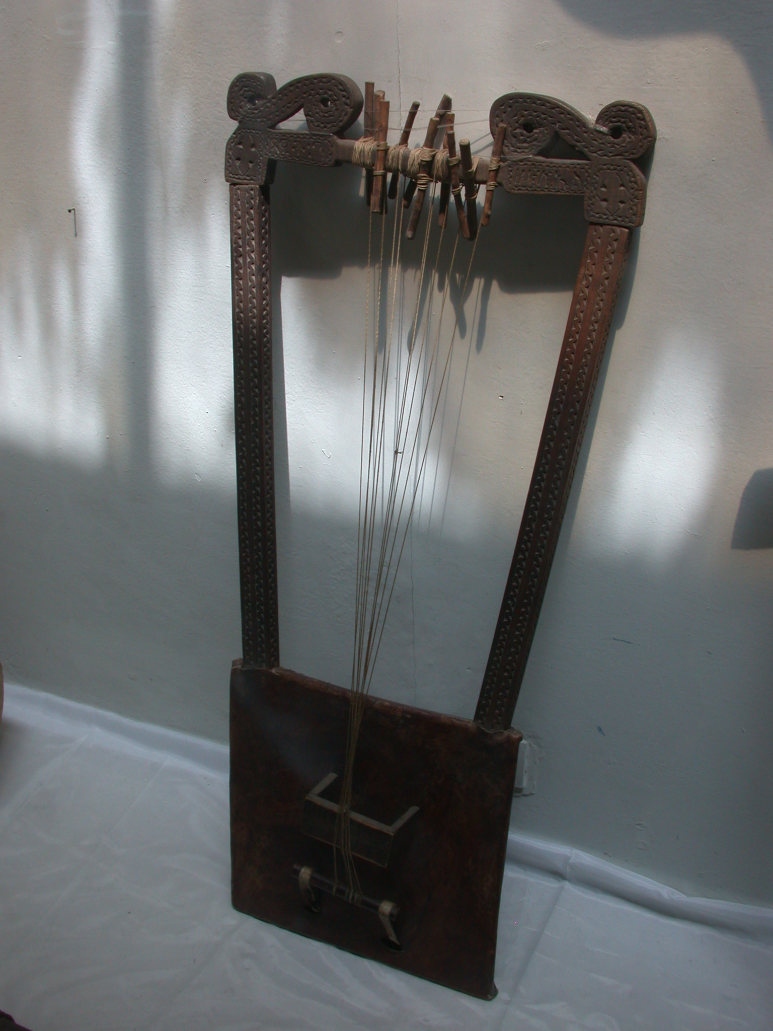 Eccessiastical String Instrument, National Museum, Addis Ababa, Ethiopia