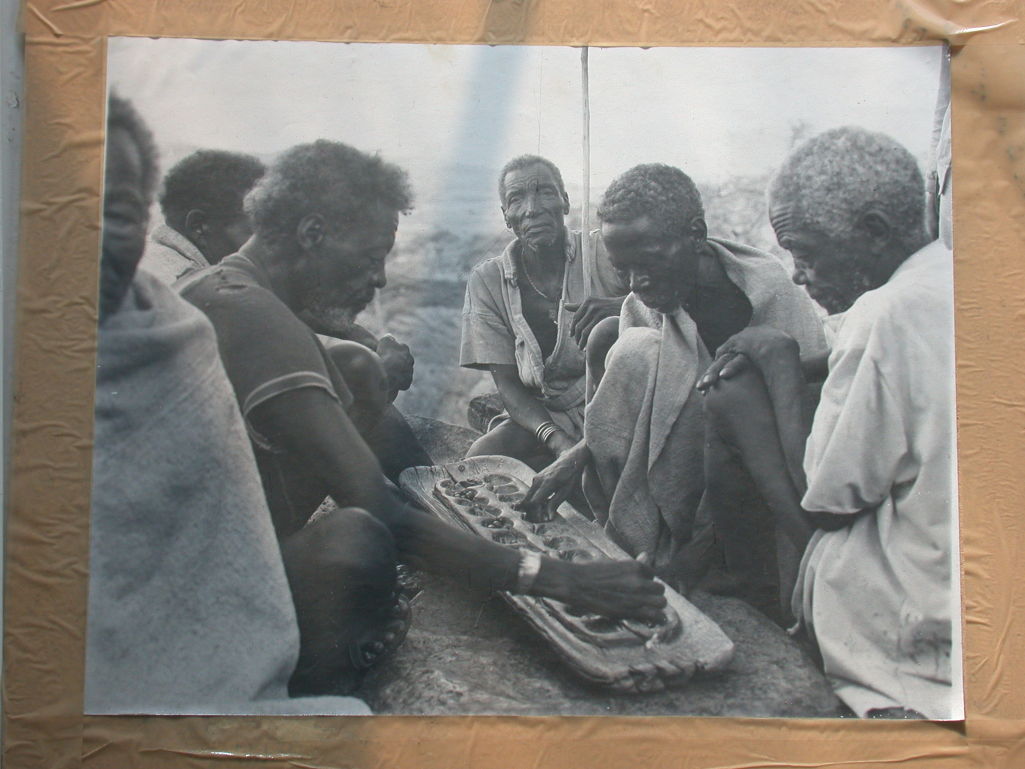 Photo of Ethiopians Playing Game, National Museum, Addis Ababa, Ethiopia