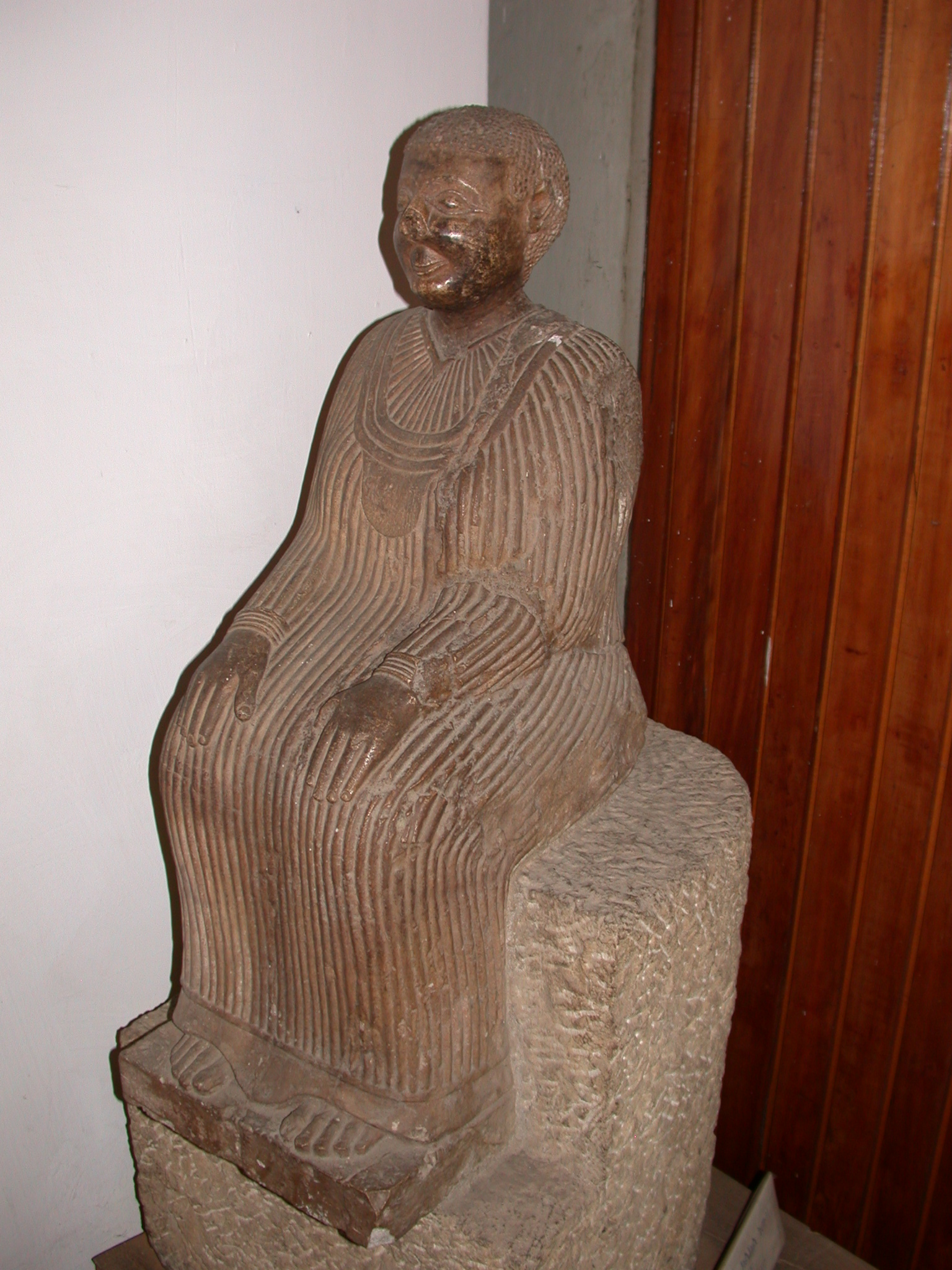Carved Seated Woman, National Museum, Addis Ababa, Ethiopia