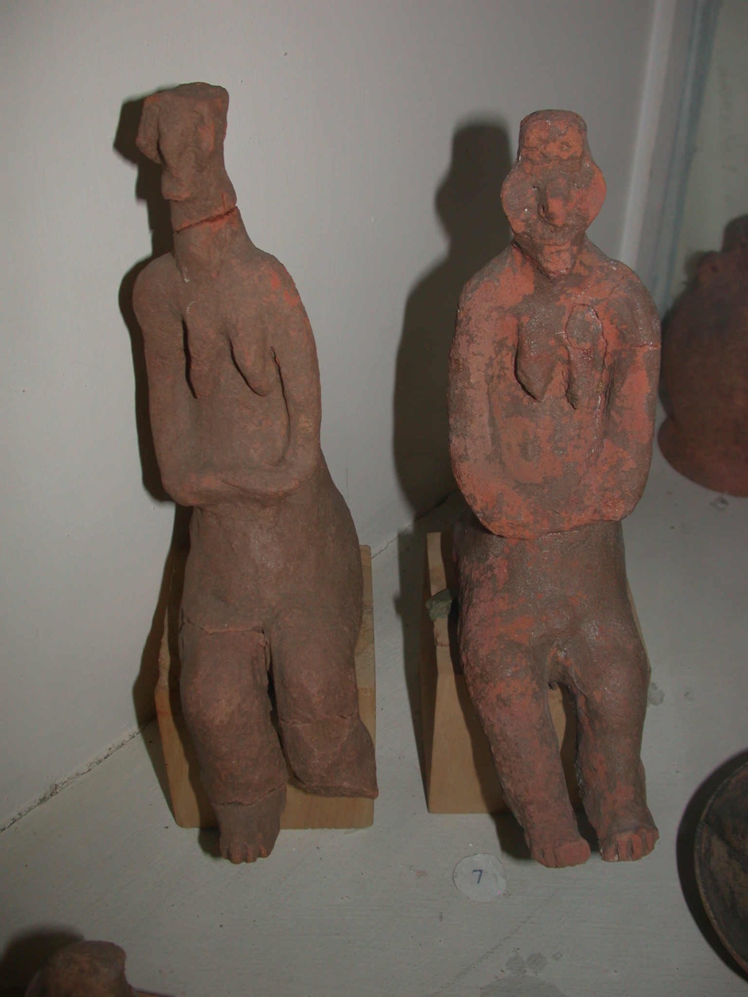 Two Red Earthenware Female Figures, 2nd Half of 1st Millenium BCE, Hawlti, Tigrai, Now Located in National Museum, Addis Ababa, Ethiopia