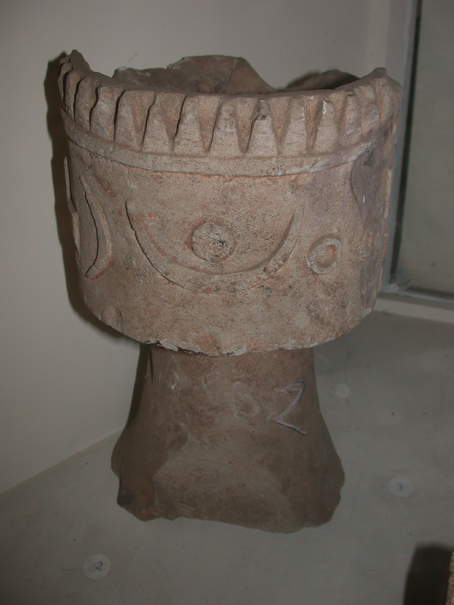 Small Alabaster Altar From End of 1st Millenium BCE in Addi-Galamo, Tigrai, Now Located at National Museum, Addis Ababa, Ethiopia