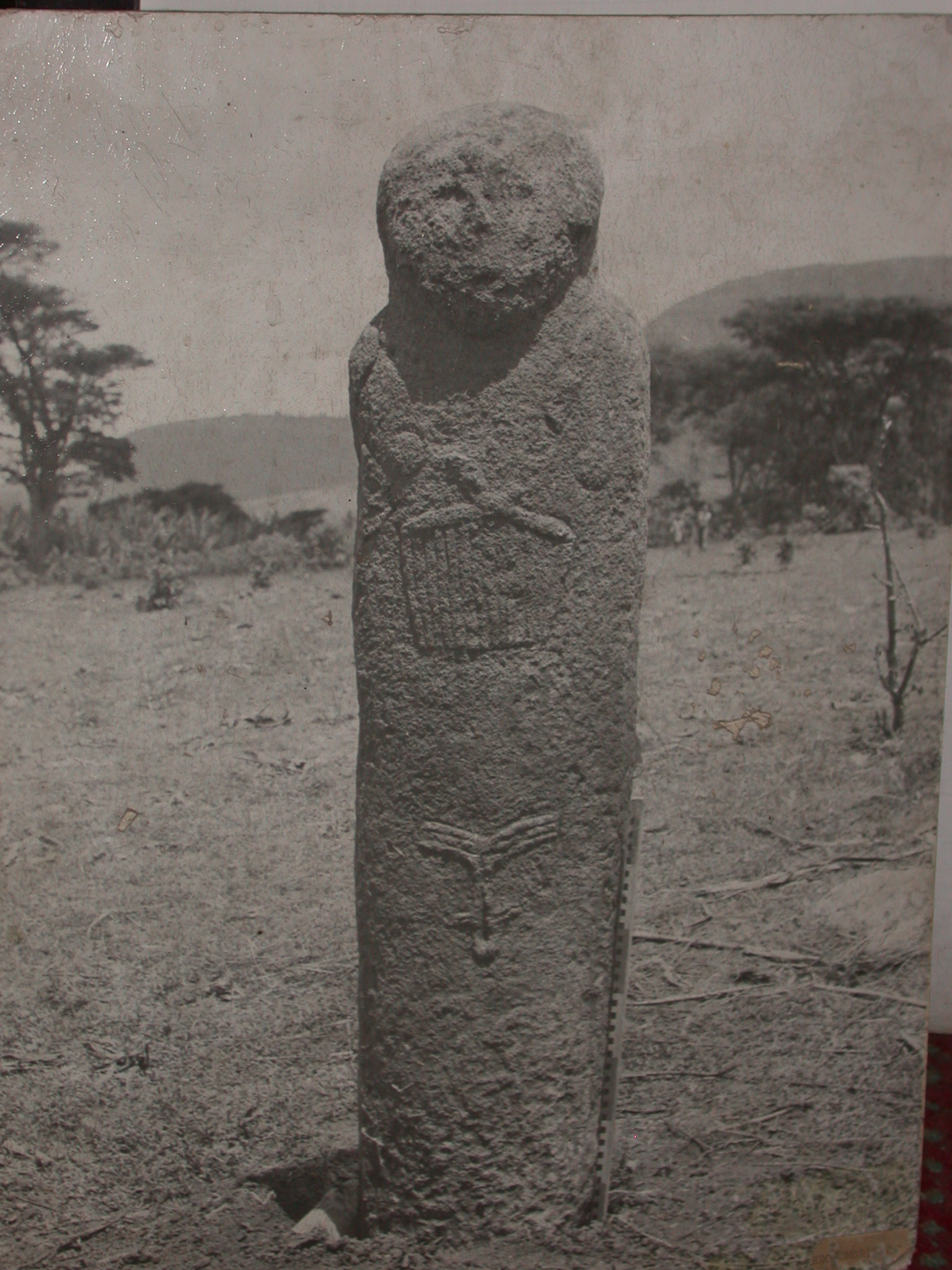 Photo of Unidentified Anthropomorphic Stela from Southern Ethiopia, National Museum, Addis Ababa, Ethiopia
