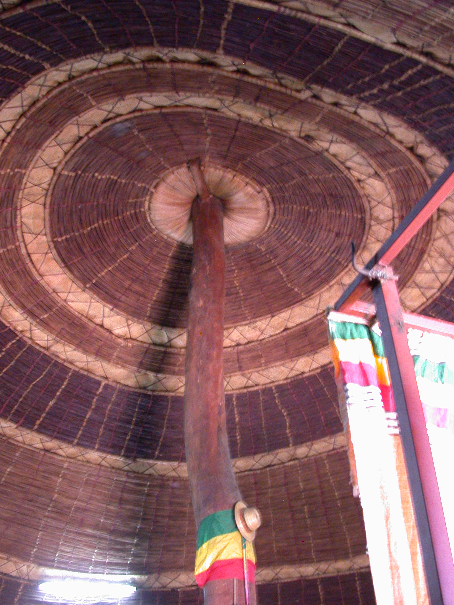 Woven Ceiling of Tukul Cafe Near National Museum, Addis Ababa, Ethiopia