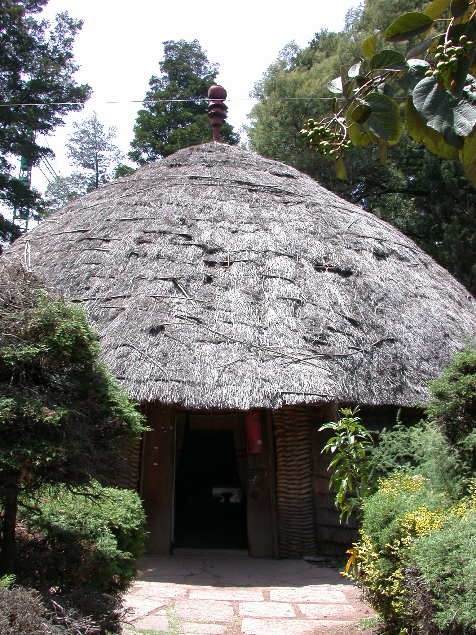 Exterior View of Tukul Cafe Near National Museum, Addis Ababa, Ethiopia