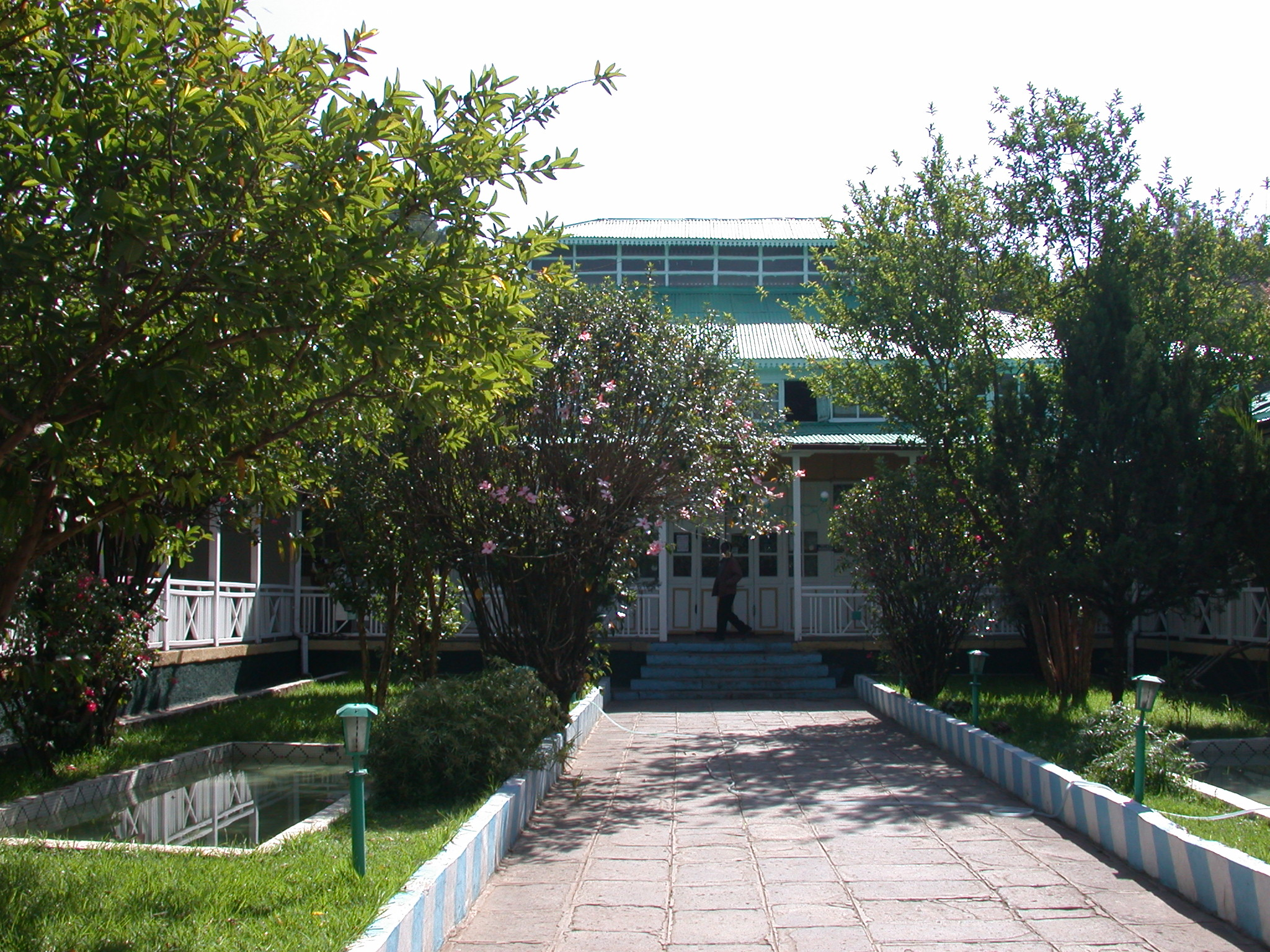 Courtyard of Finfine Hotel, Addis Ababa, Ethiopia