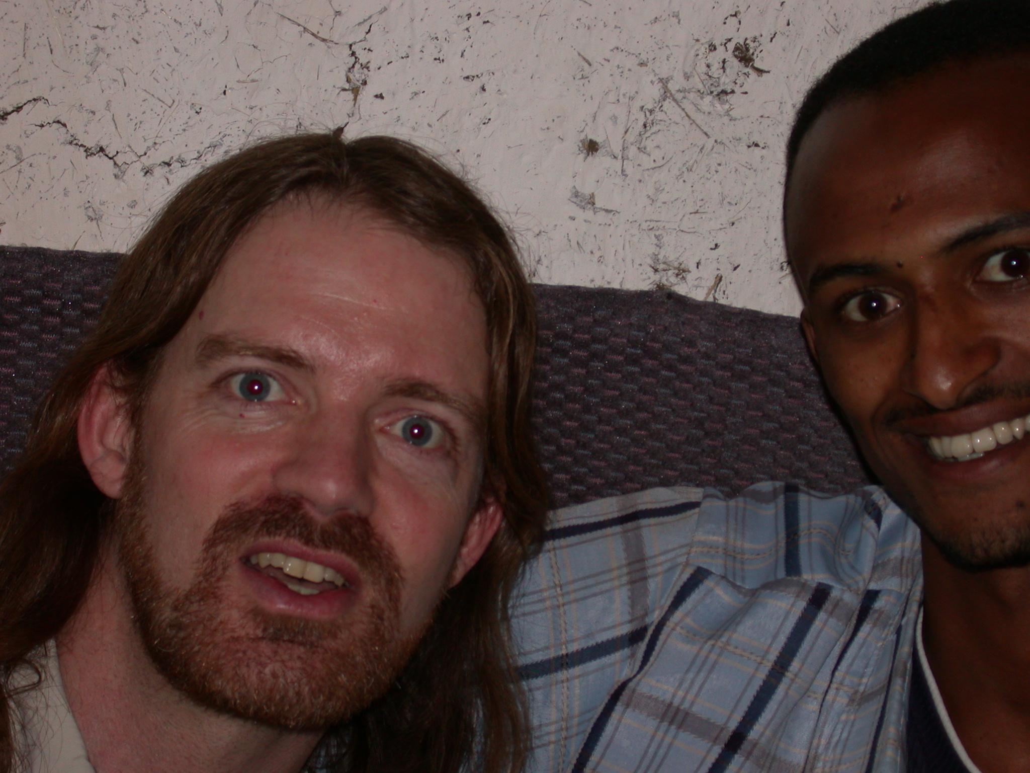 Will and Abdela Assiz at Paulos Apartment, Addis Ababa, Ethiopia