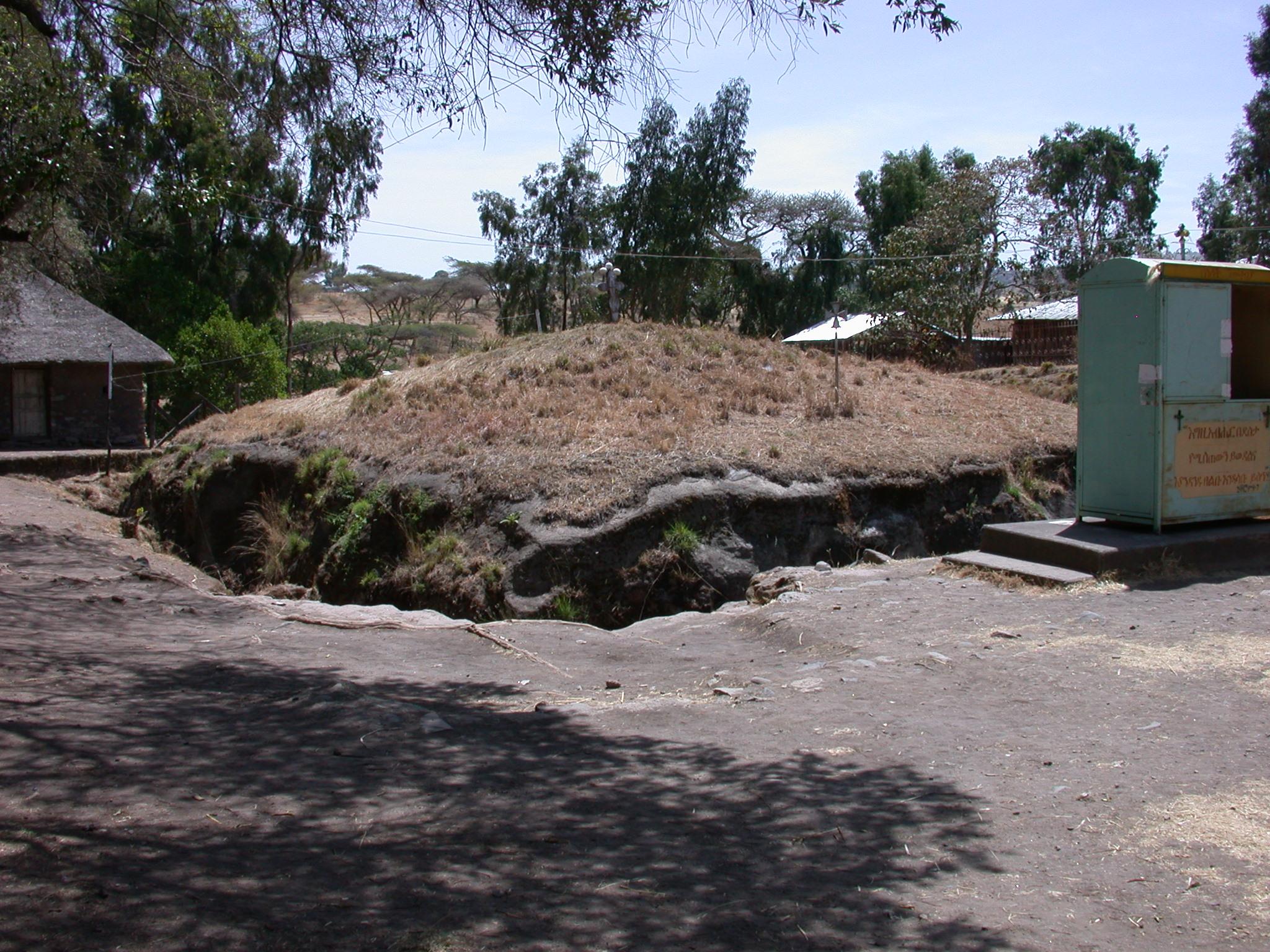 Grassy Topsoil Left to Protect Adadi Mariam Church, South of Addis Ababa, Ethiopia