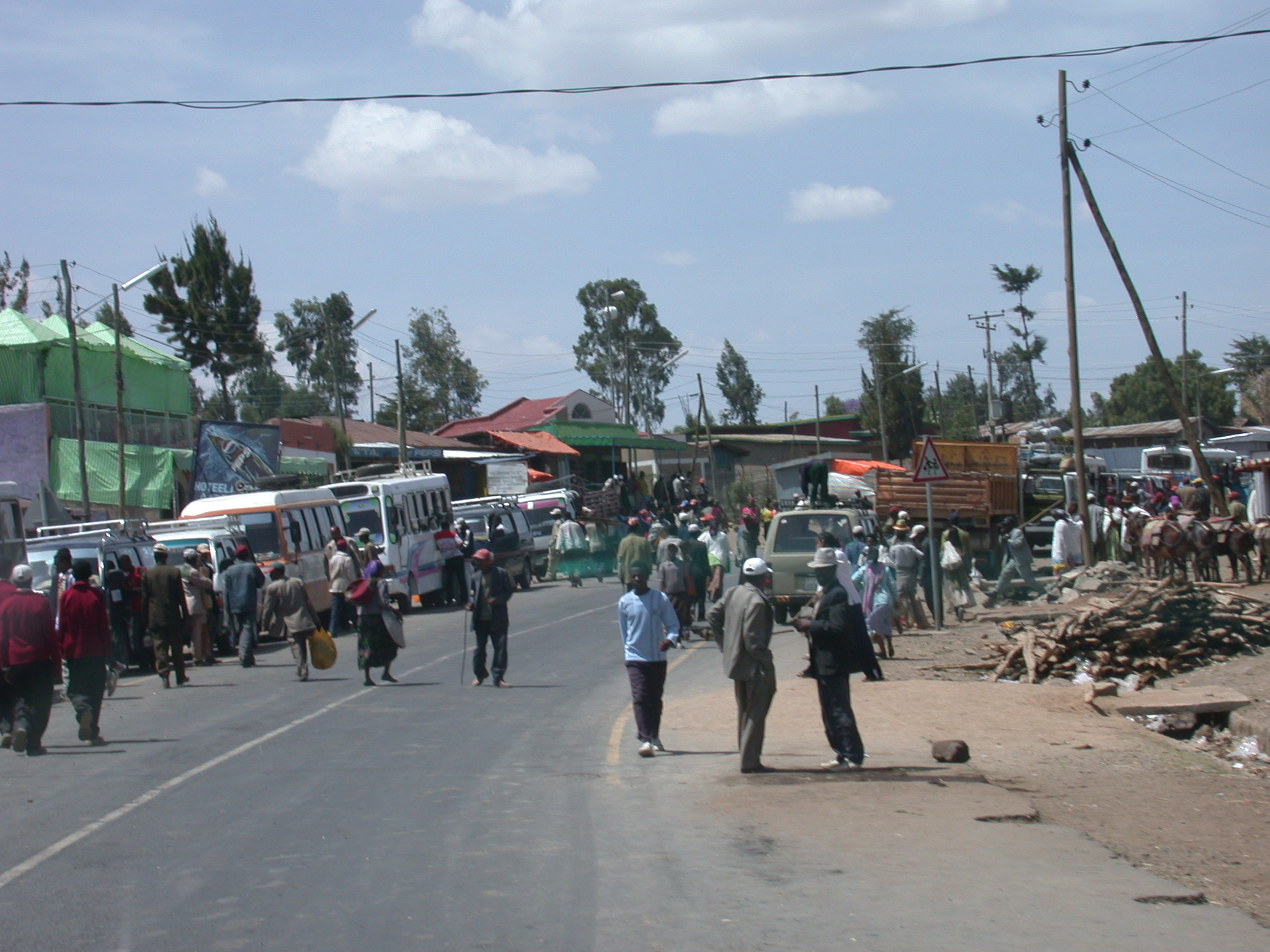 Typical Small Town Outside Addis Ababa, Ethiopia