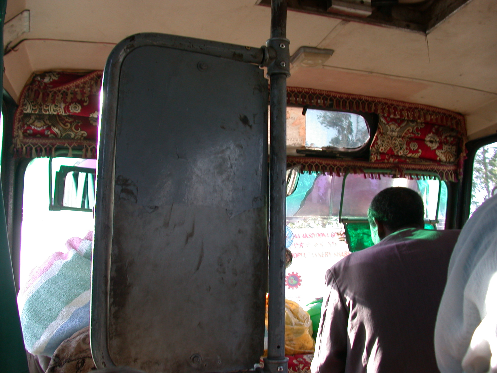 Front of Local Bus From Addis Ababa to Awash Saba, Ethiopia