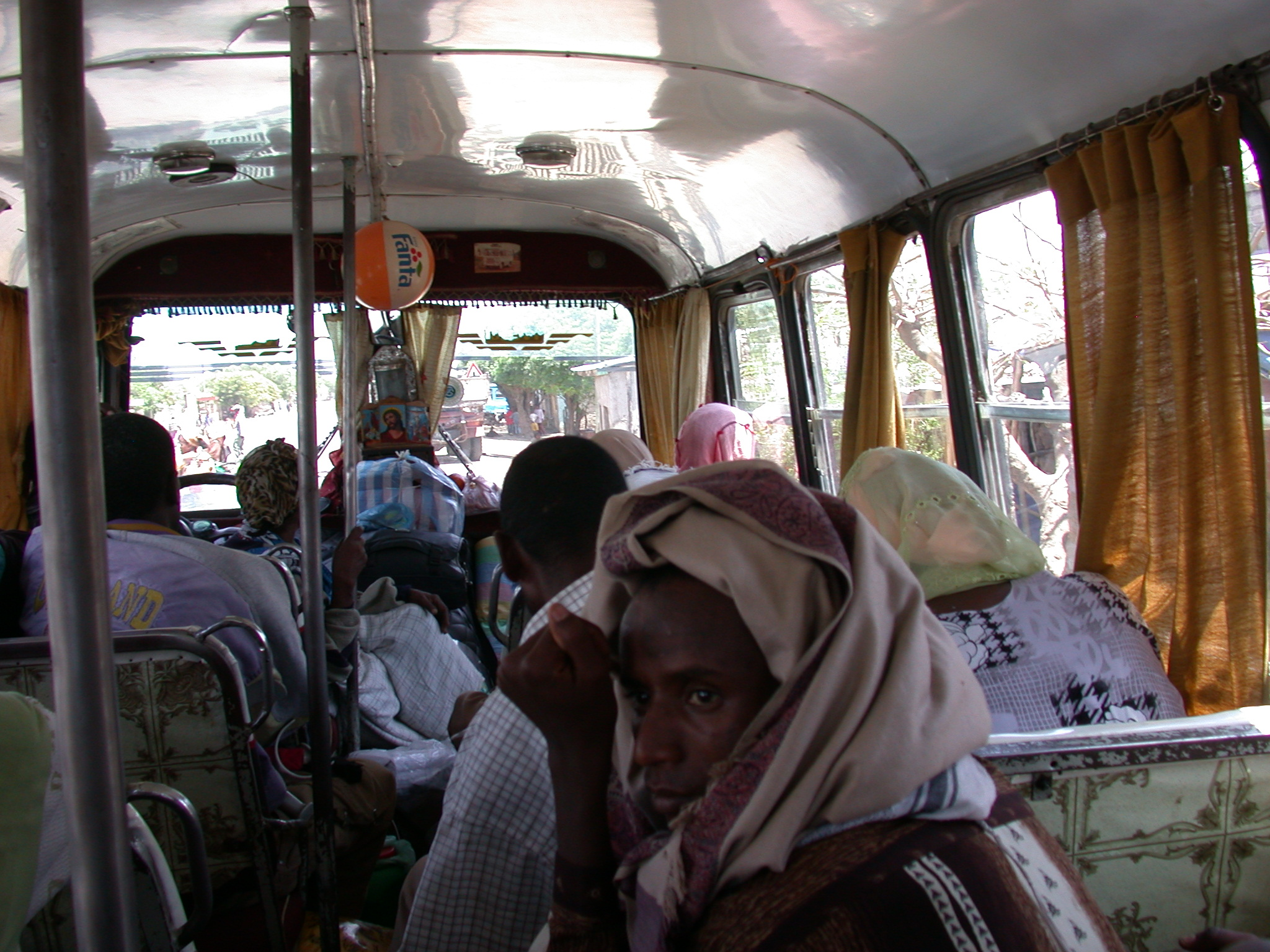 Second Bus Ride From Addis Ababa to Awash Saba, Ethiopia