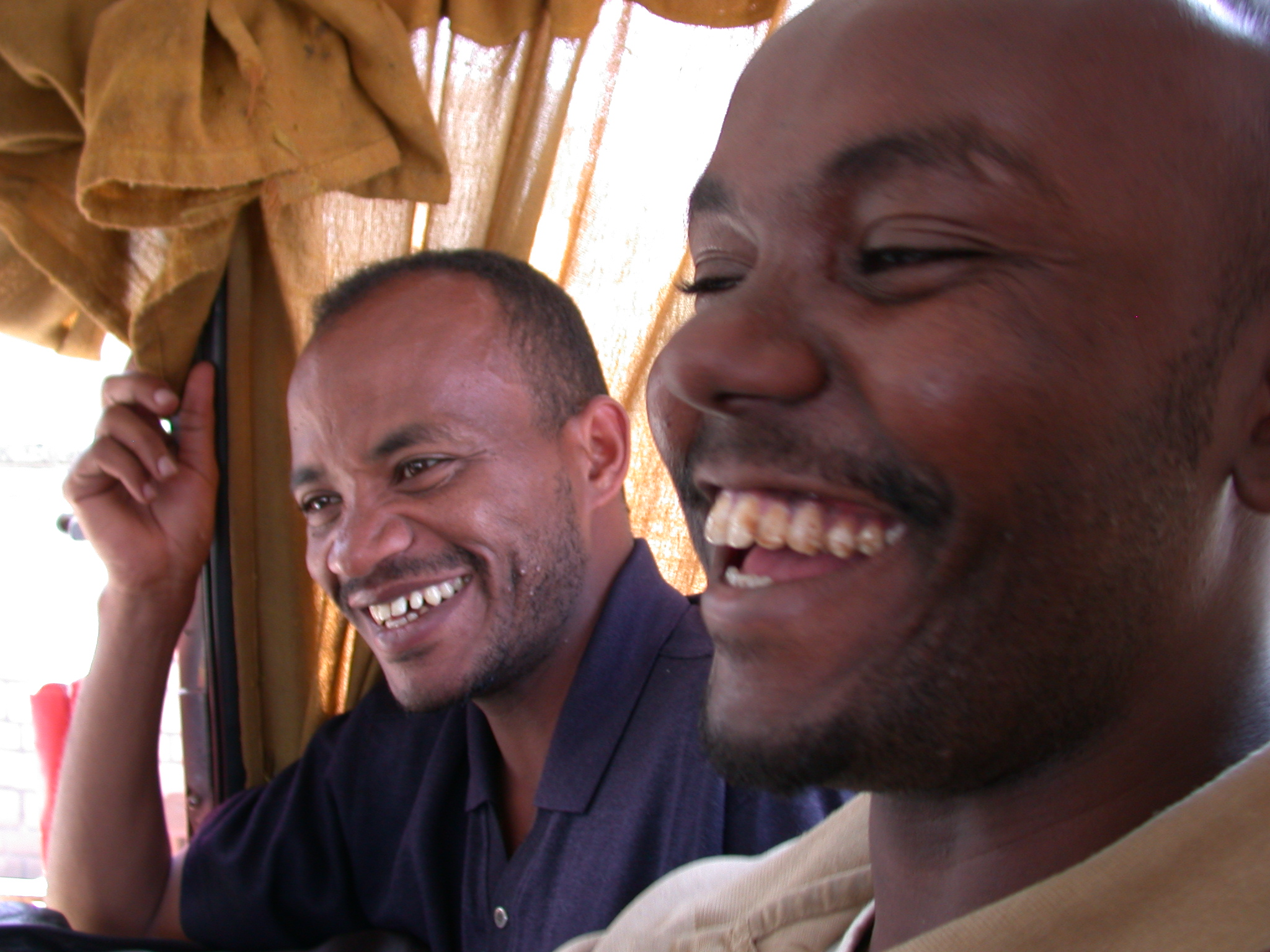 Friends on Second Bus Ride From Addis Ababa to Awash Saba, Ethiopia