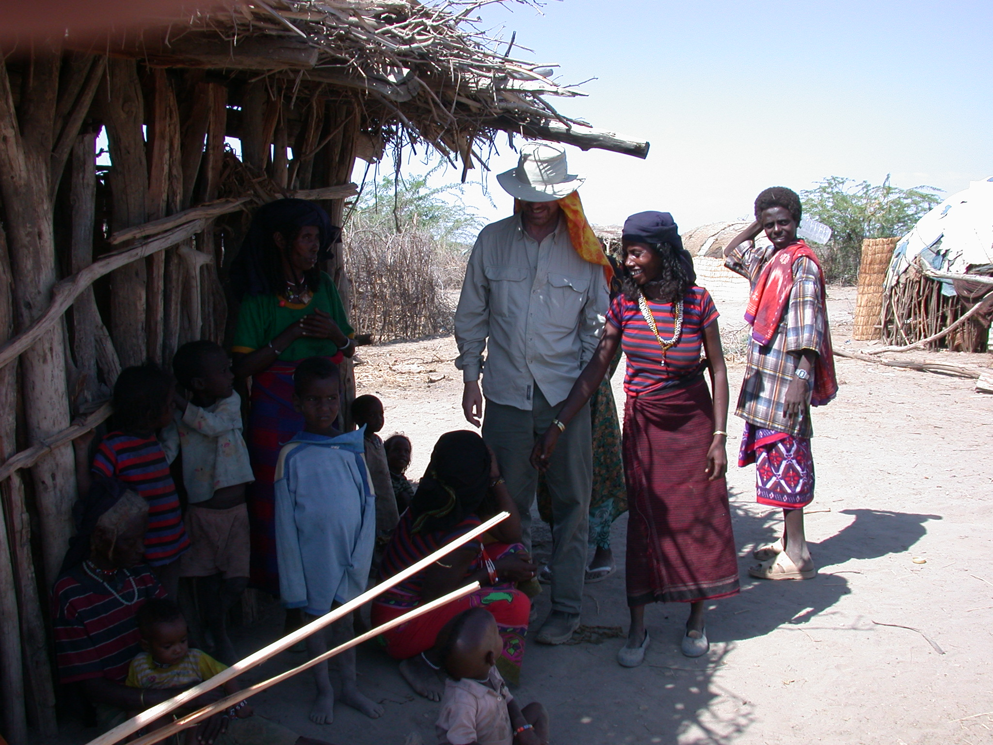 Will With Afar Villagers Near Bilen Lodge, Afar, Awash, Ethiopia