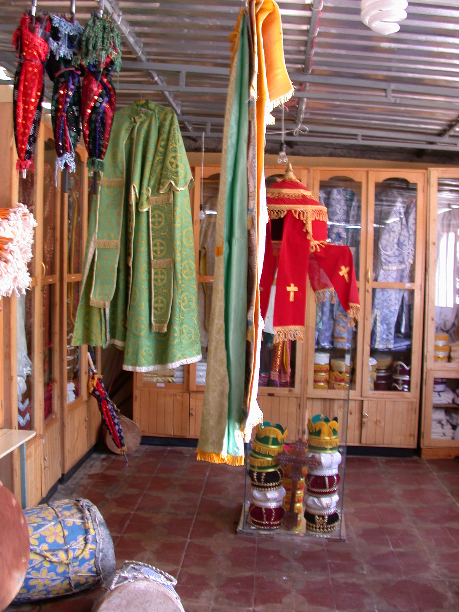 Ecclessiastical Apparel at Church Shop, Addis Ababa, Ethiopia