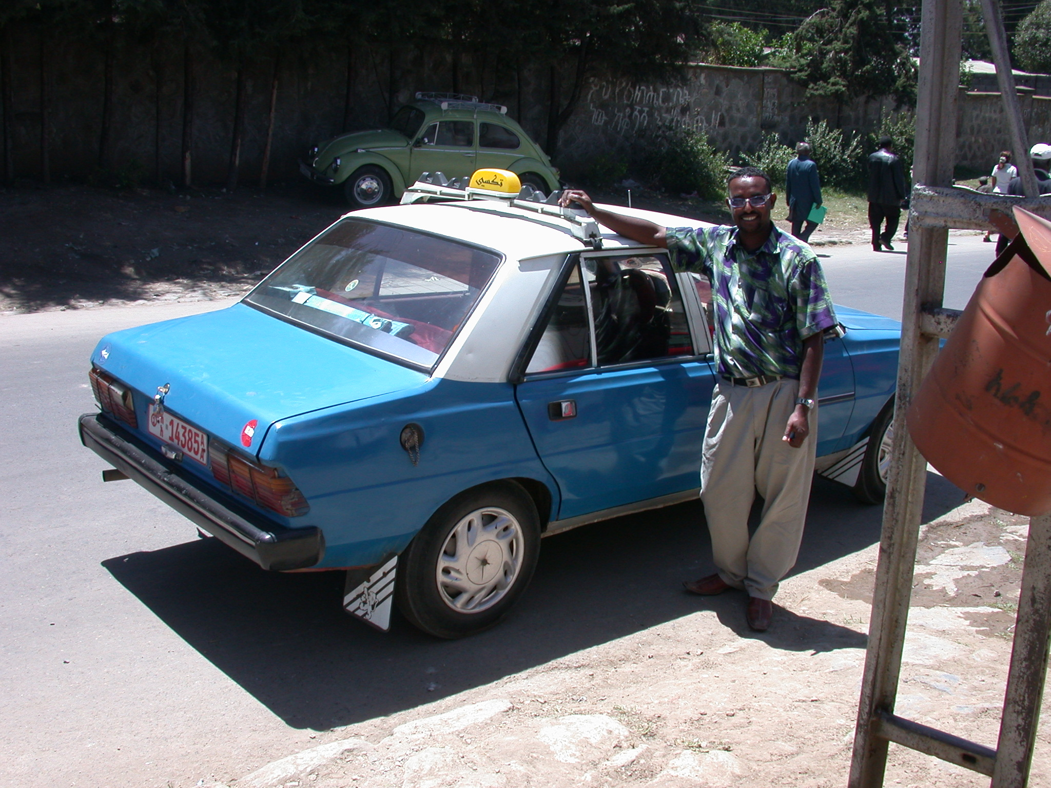 Tamir and His Taxi, Addis Ababa, Ethiopia
