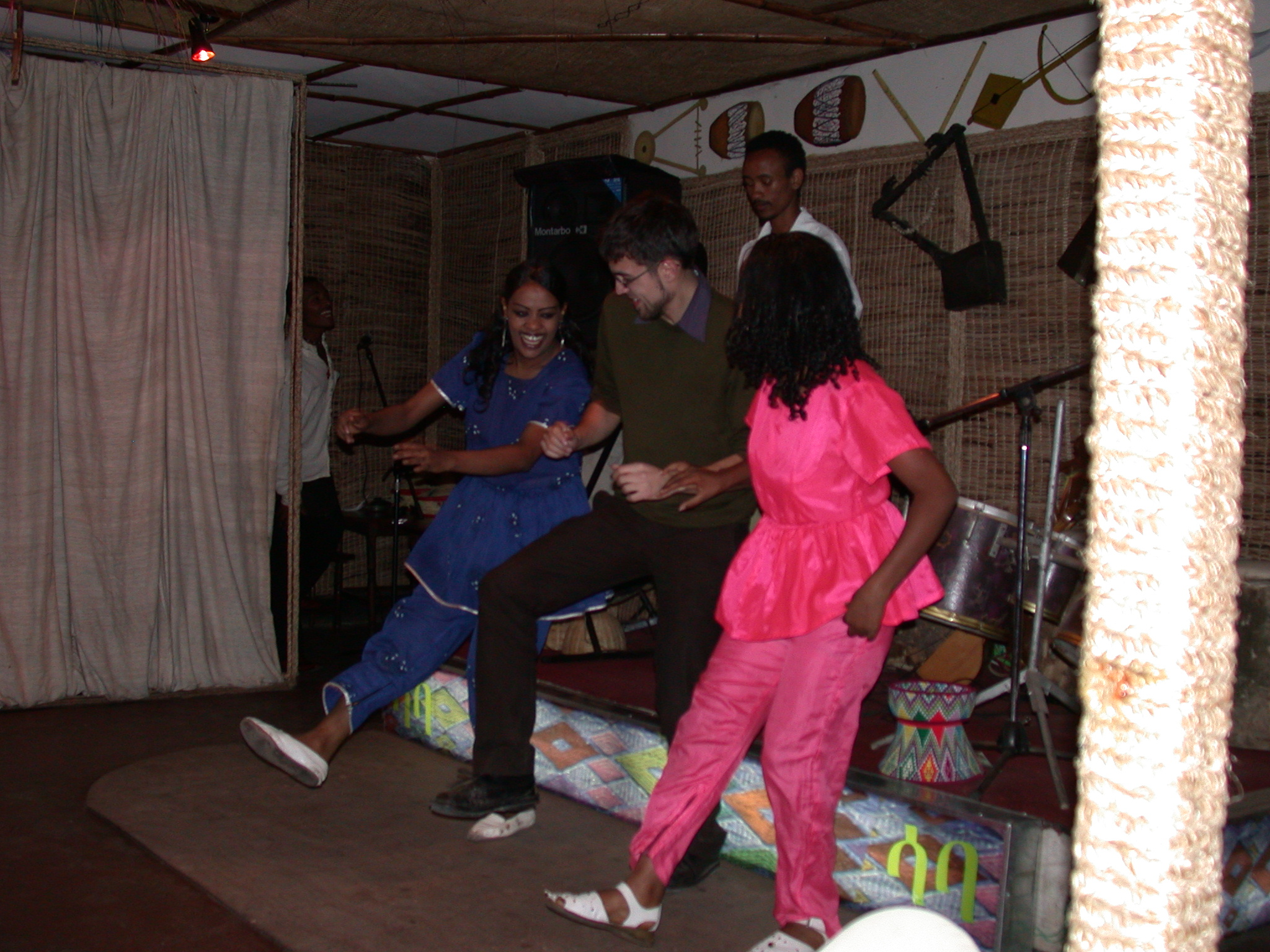 Frederick and Dancers at Saba Restaurant, Addis Ababa, Ethiopia