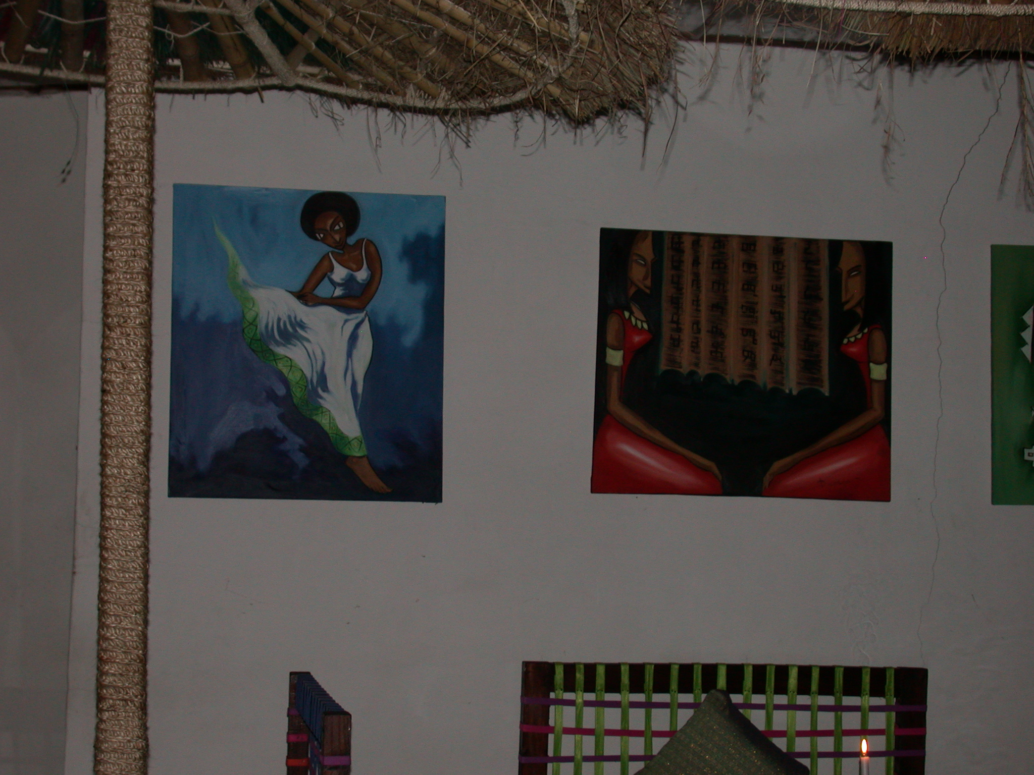 Paintings at Saba Restaurant in Addis Ababa, Ethiopia