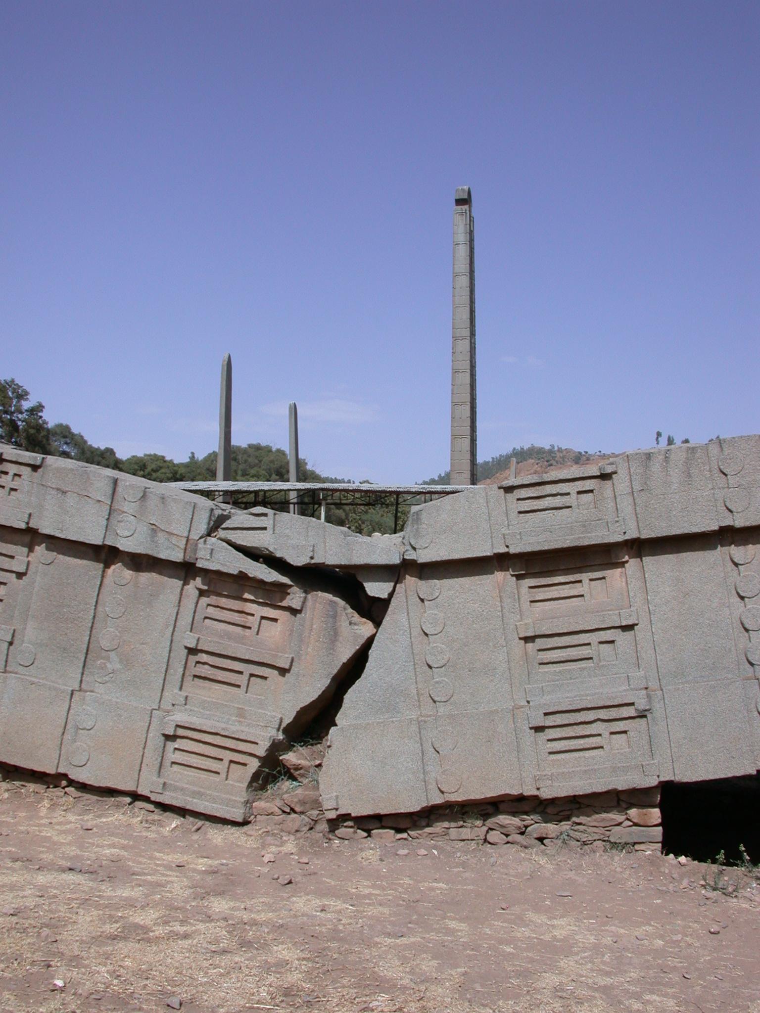 Fallen Obelisk, Axum, Tigrai, Ethiopia