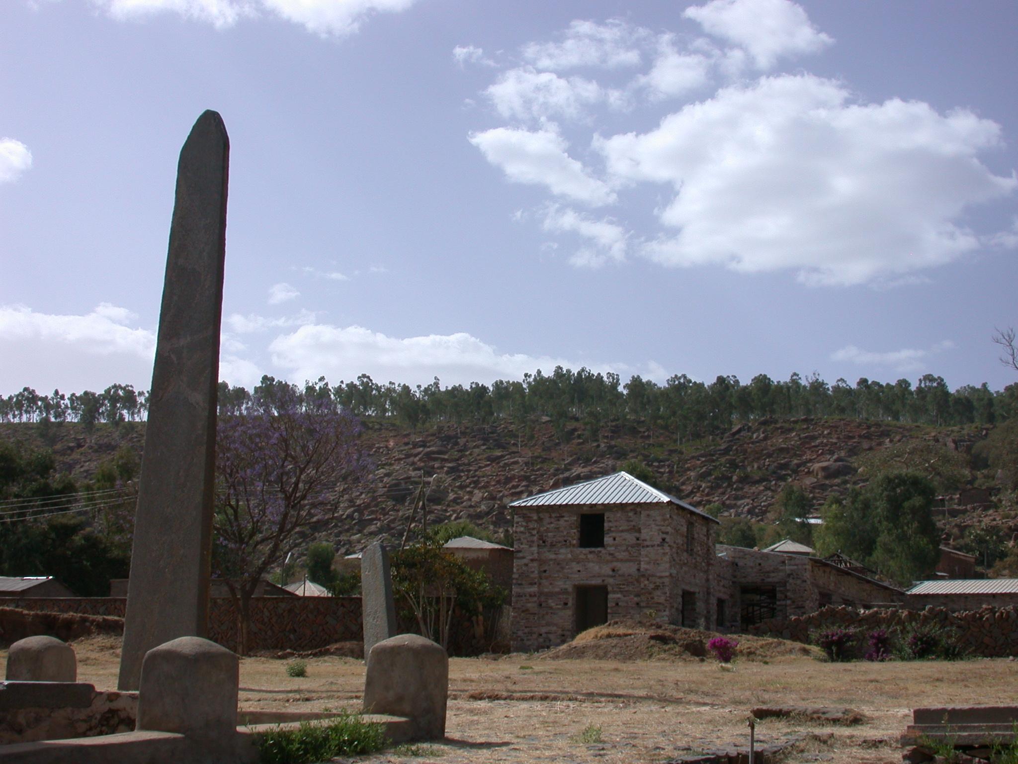 New Axum Museum Behind Obelisks, Axum, Tigrai, Ethiopia