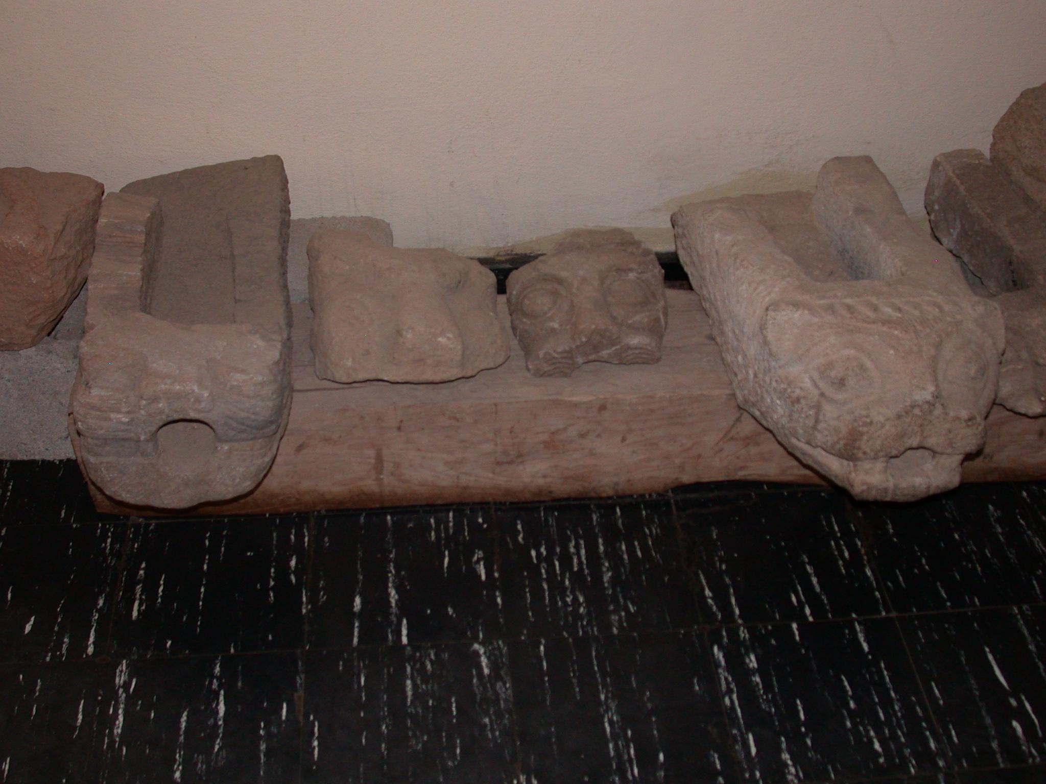 Gargoyles, Axum Museum, Axum, Tigrai, Ethiopia