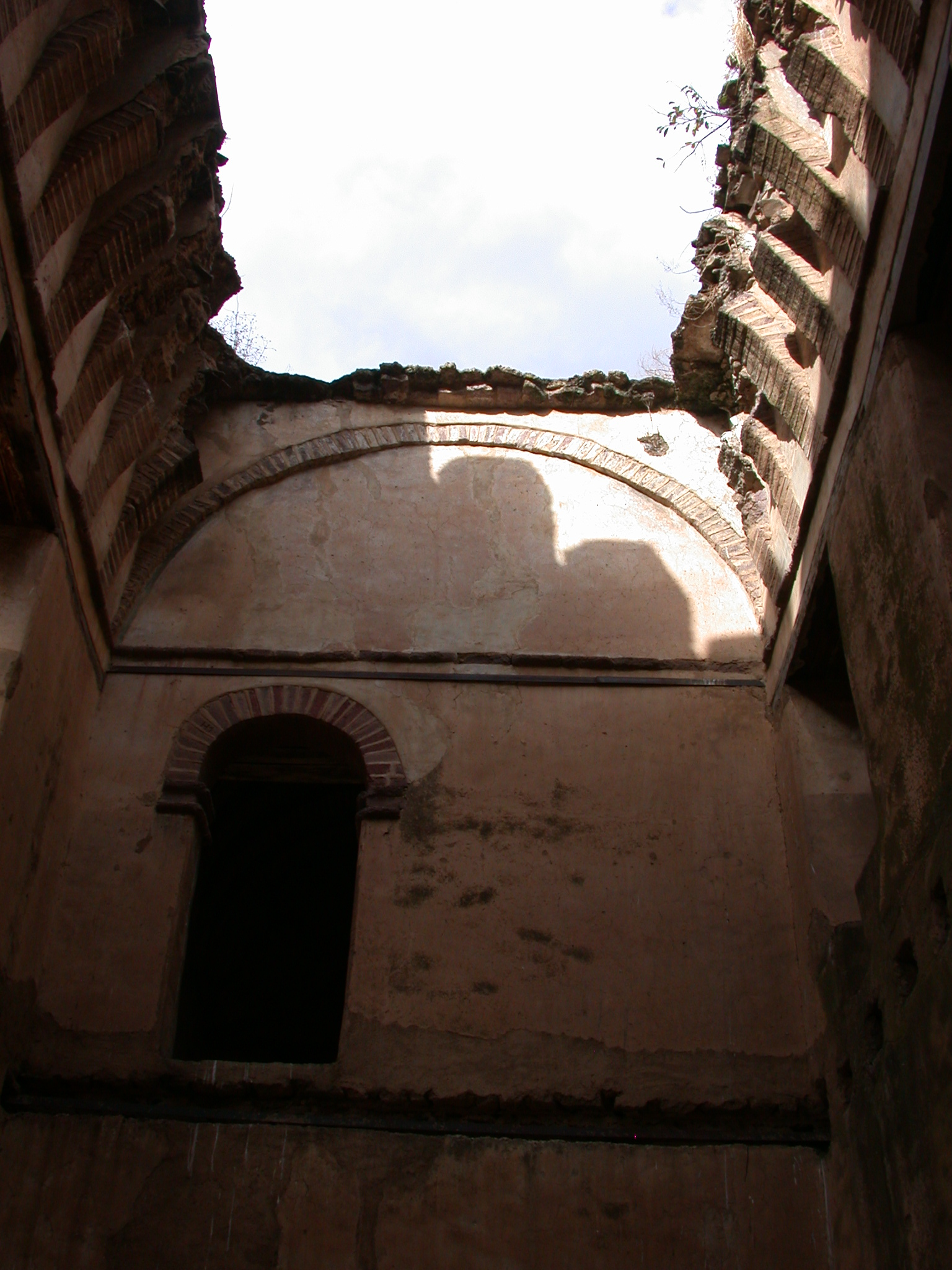 Fallen Roof of Palace, Fasil Ghebbi Royal Enclosure, Gonder, Ethiopia
