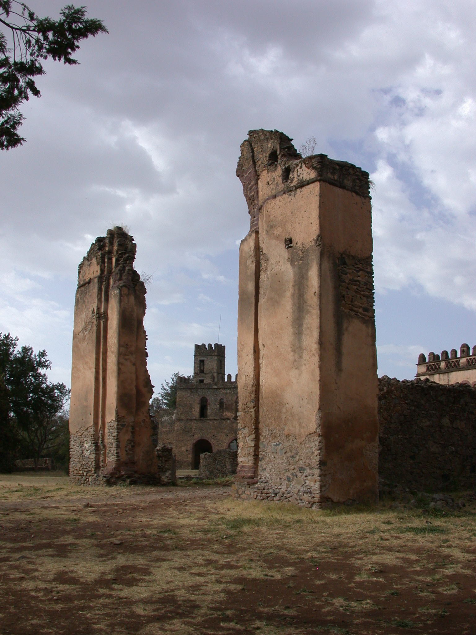 Fallen Gate, Fasil Ghebbi Royal Enclosure, Gonder, Ethiopia