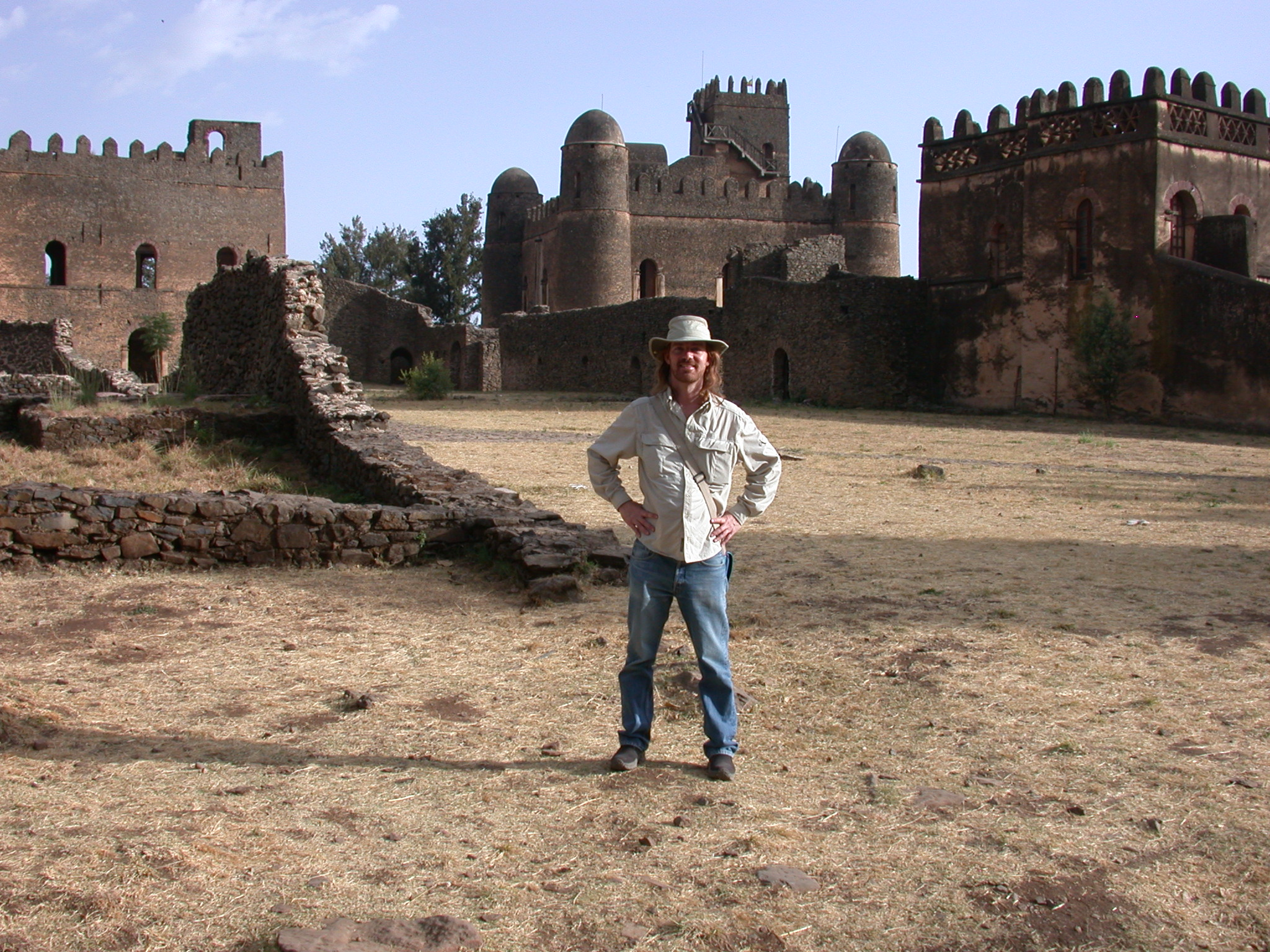 Will in Front of Palaces, Fasil Ghebbi Royal Enclosure, Gonder, Ethiopia