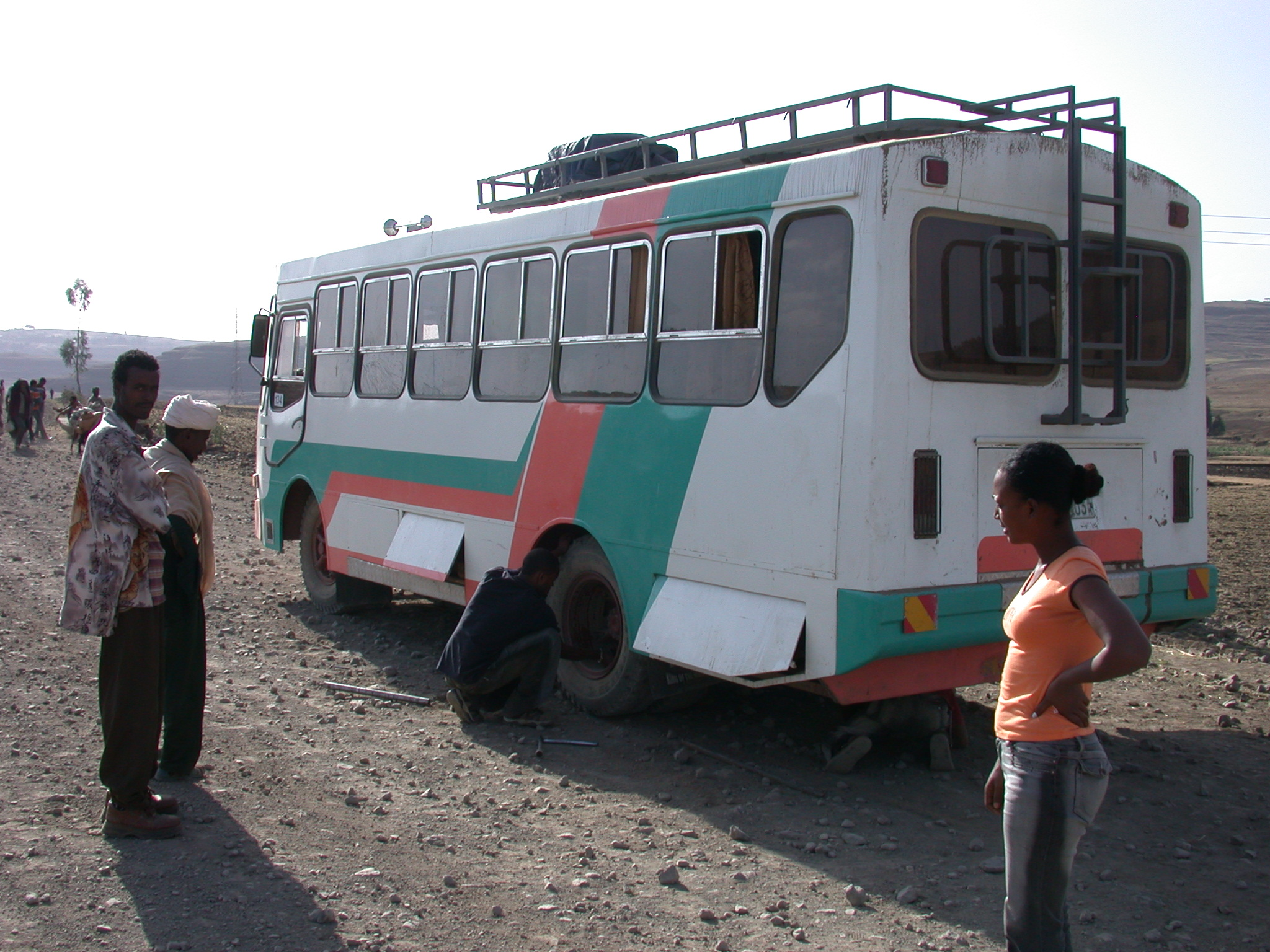 Bus Breaks Down Betwen Gonder and Debark, Ethiopia