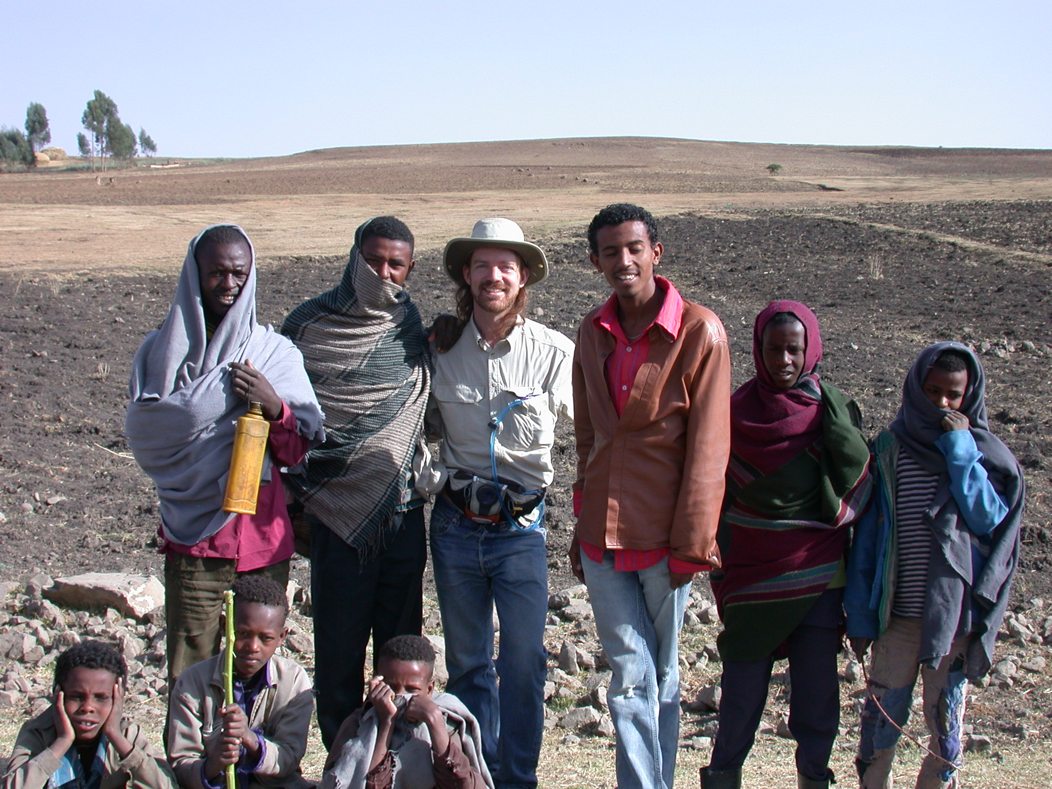 Will With Residents of Village at Site of Bus Breakdown, Route From Gonder to Debark, Ethiopia