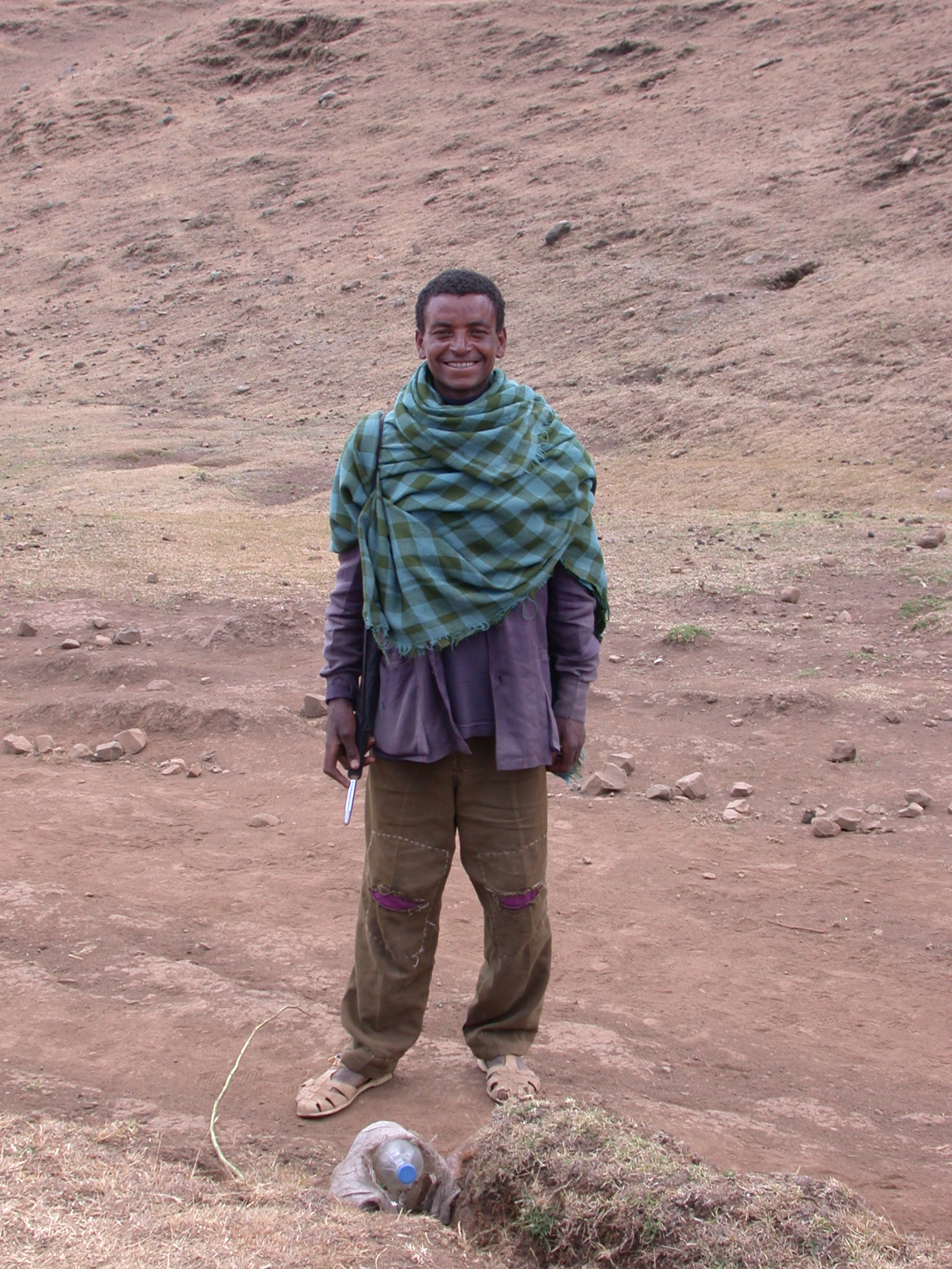 Resident of Local Village on Trek from Debark to Sankaber, Simien Mountains, Ethiopia
