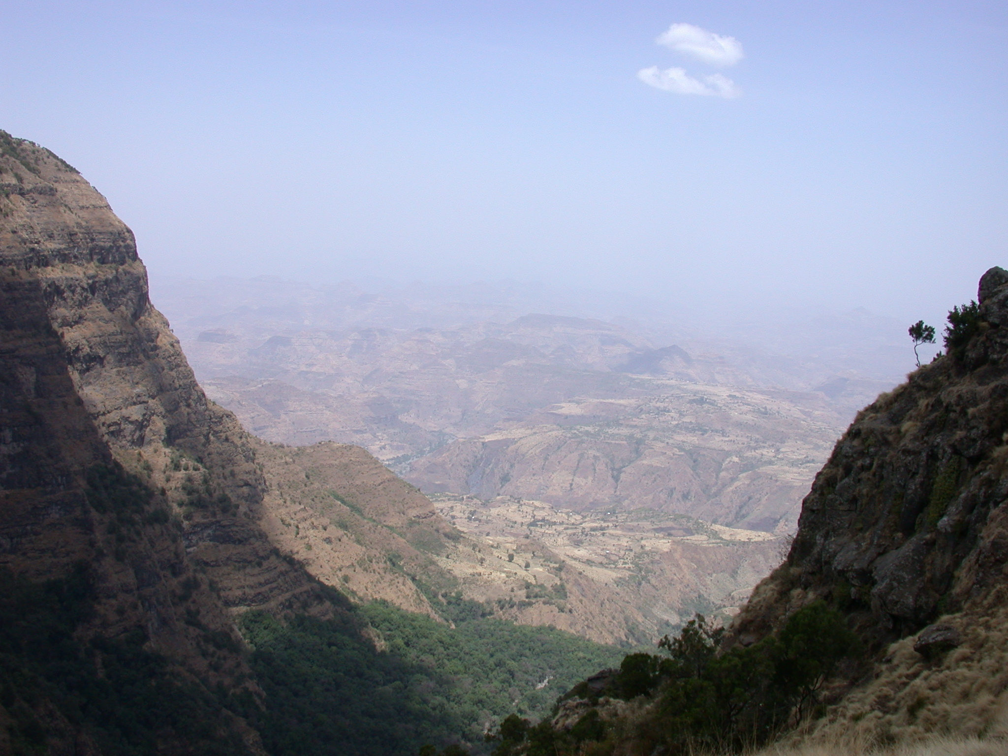 Landscape on Trek from Debark to Sankaber, Simien Mountains, Ethiopia