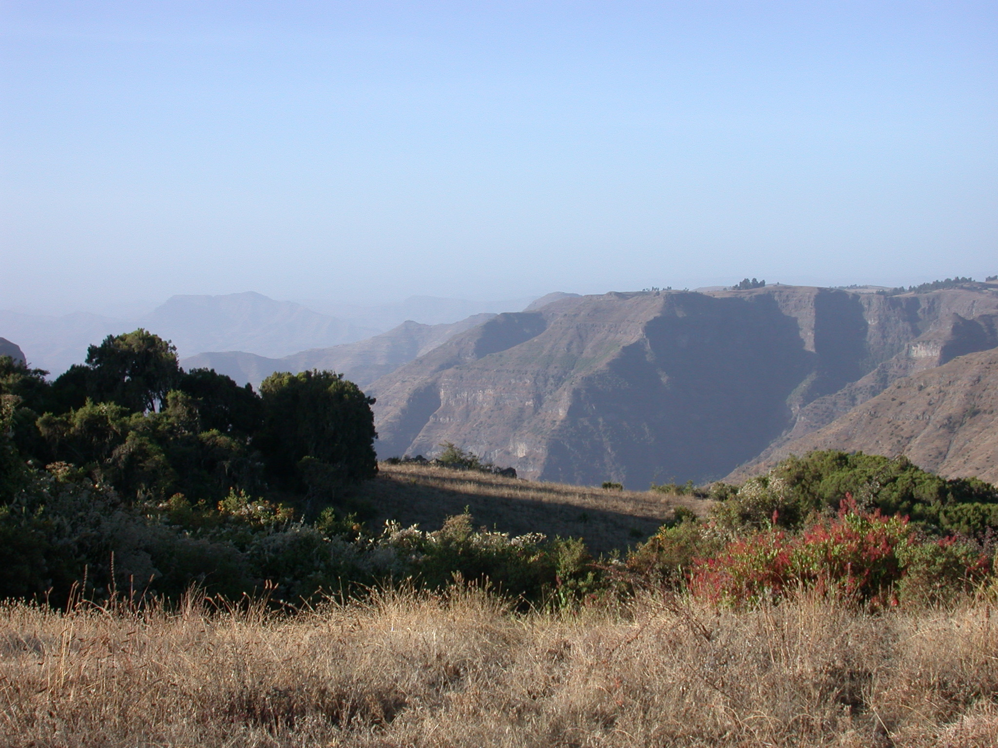 Landscape on Trek at Sankaber Camp, Simien Mountains, Ethiopia