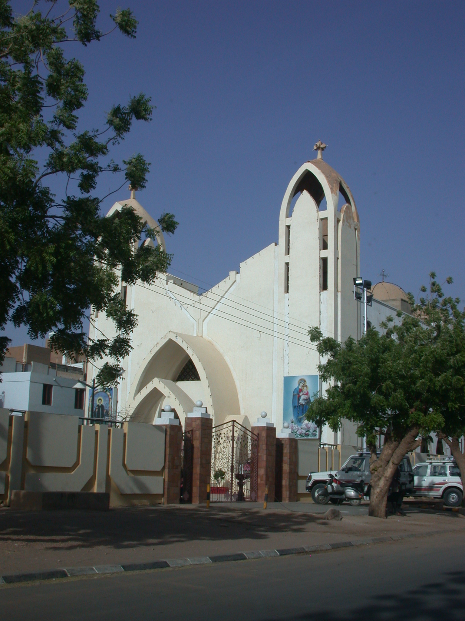 Paintings on Coptic Church, Khartoum, Sudan