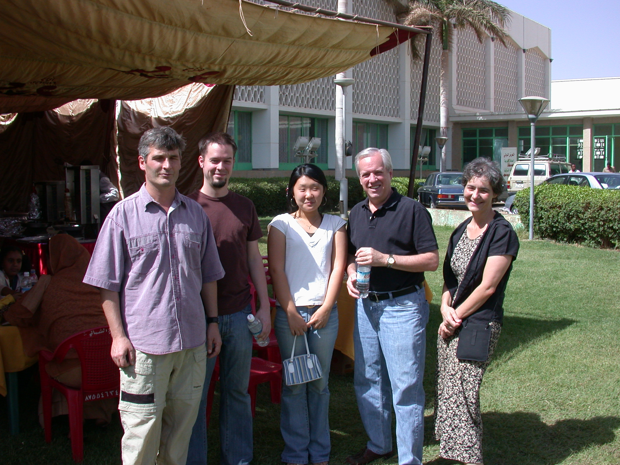 Brad, Greg, Unknown, Phil, Rene, International Charity Fair, Khartoum, Sudan