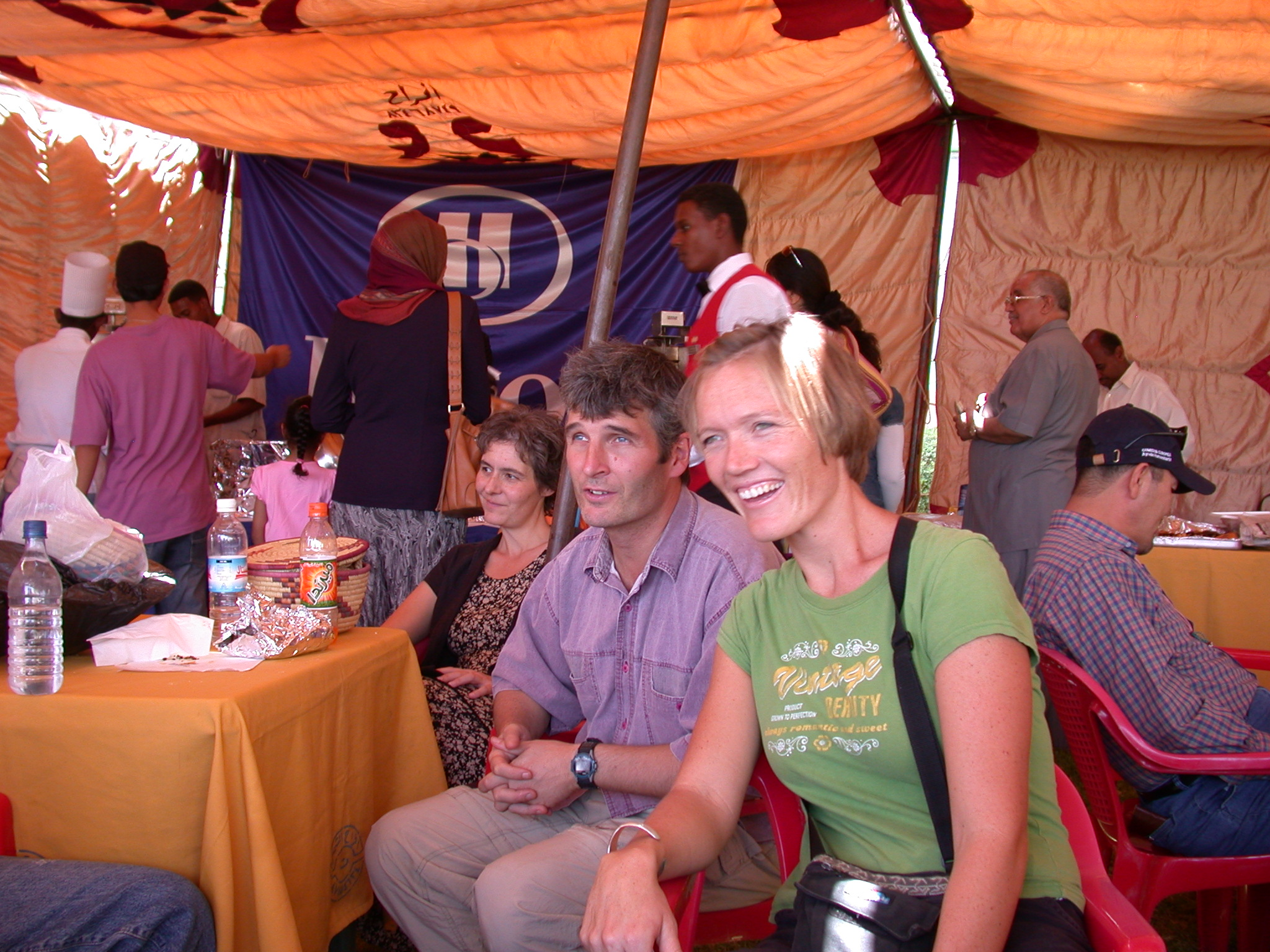 Rene, Brad, and Liz, International Charity Fair, Khartoum, Sudan