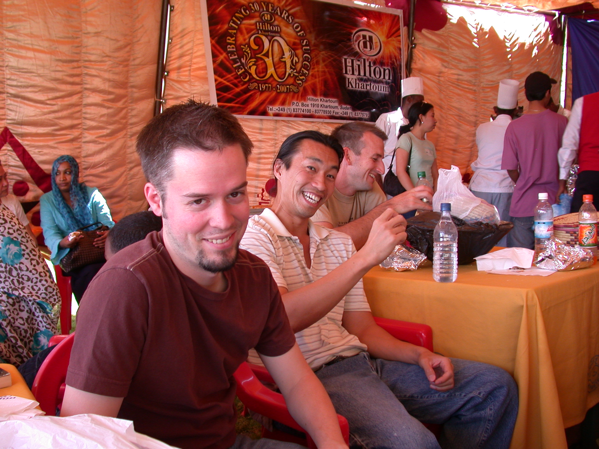 Greg, Jerry, and Jonathan, International Charity Fair, Khartoum, Sudan