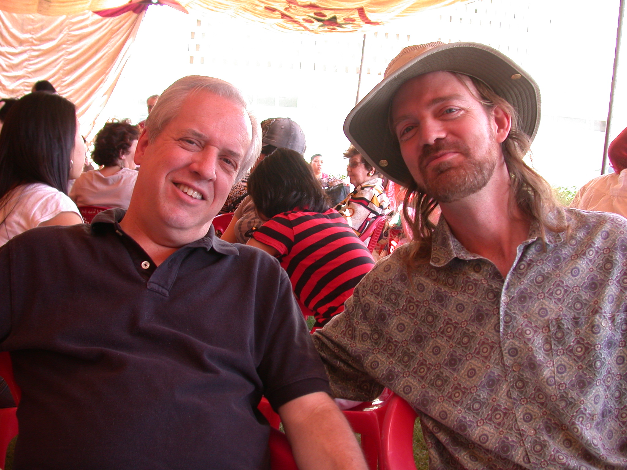 Phil and Will, International Charity Fair, Khartoum, Sudan