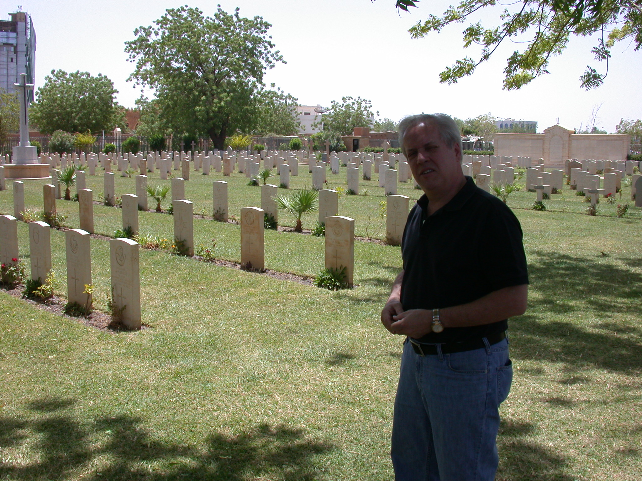 Phil at War Memorial Cemetery, Khartoum, Sudan