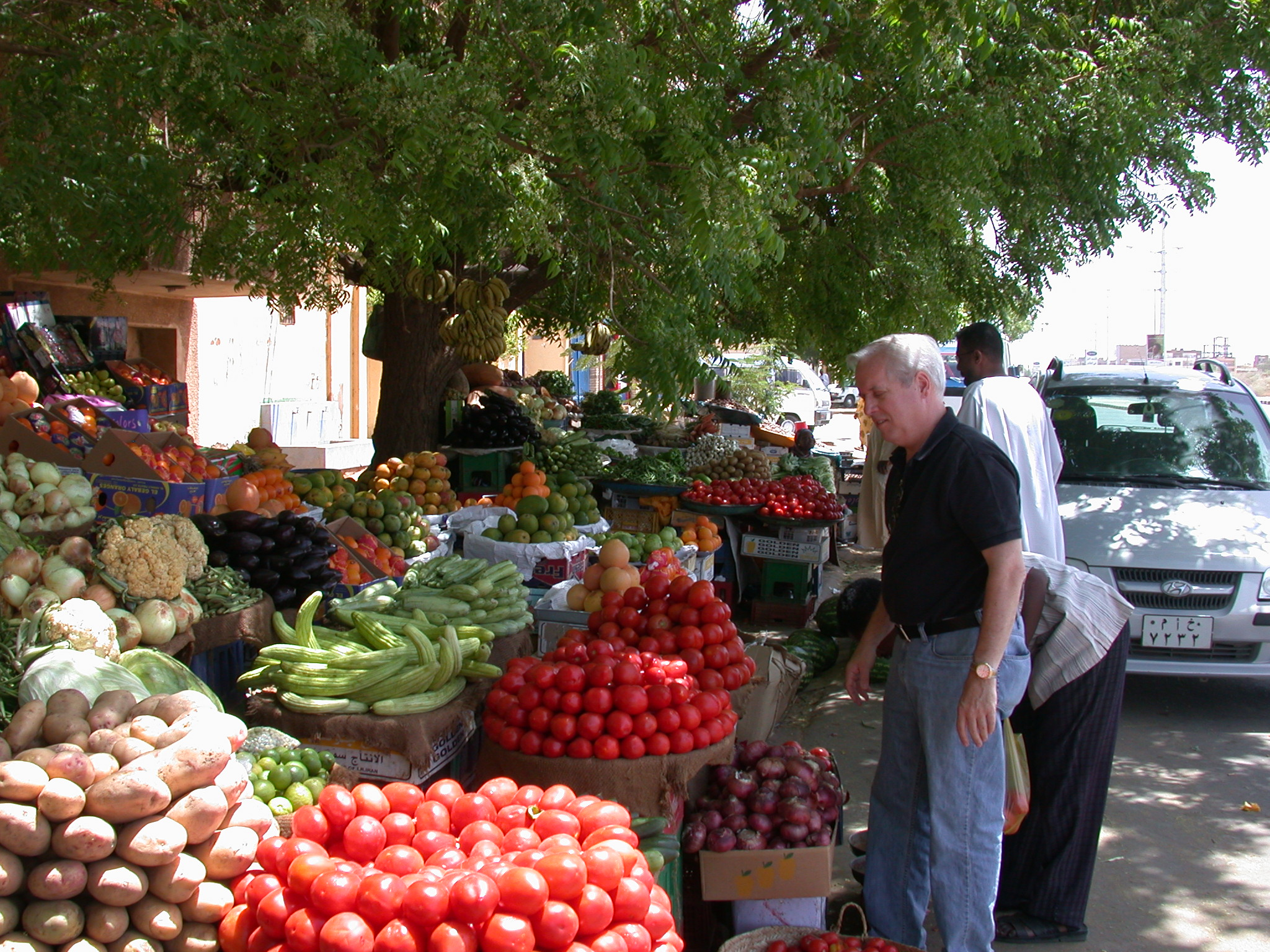 Phil at Fruit and Vegetable Stands, Khartoum, Sudan
