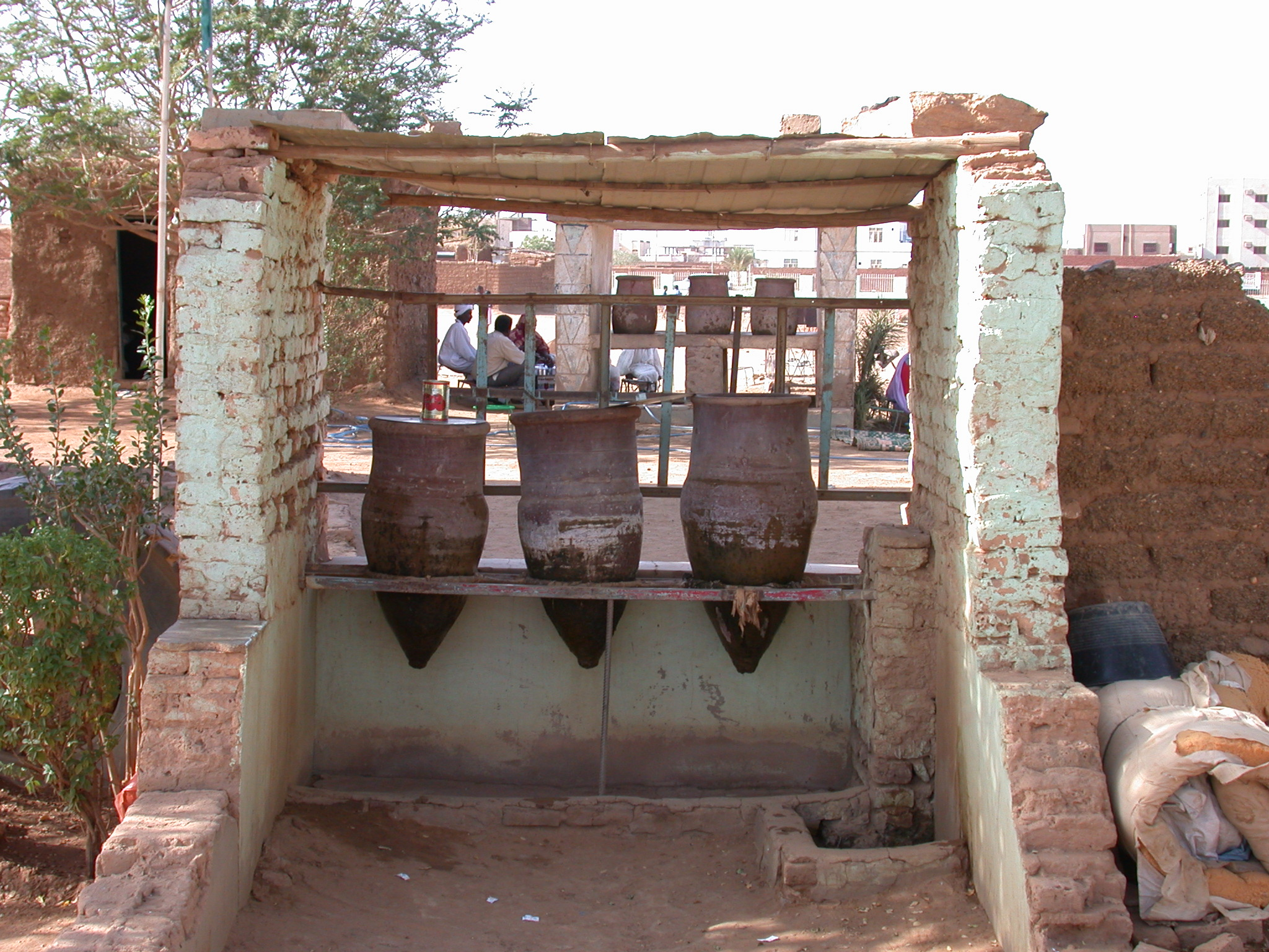 Water Jugs Outside Tombs at Sufi Dancing Site, Omdurman, Sudan