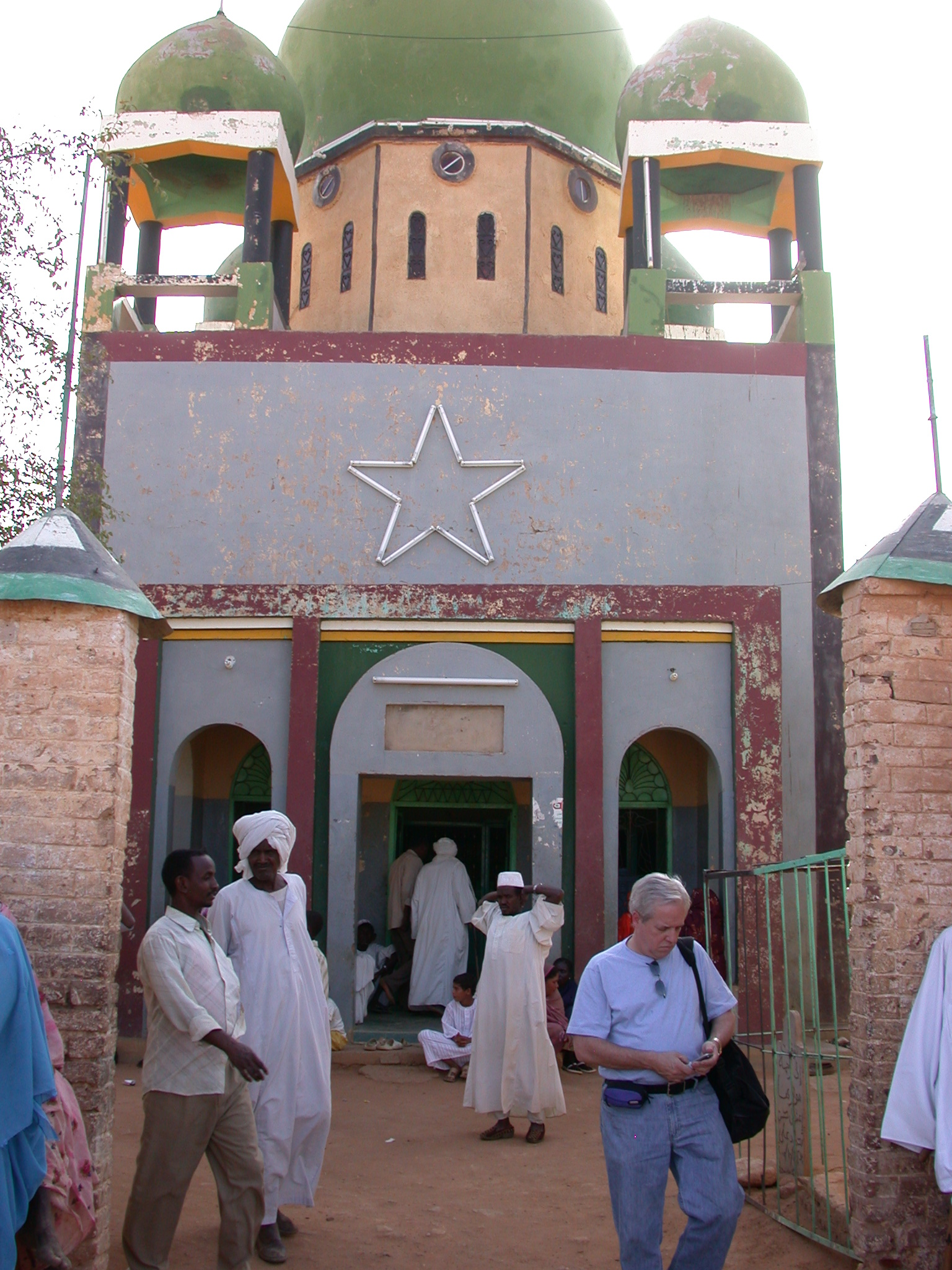 Phil Outside Tomb at Sufi Dancing Site, Omdurman, Sudan