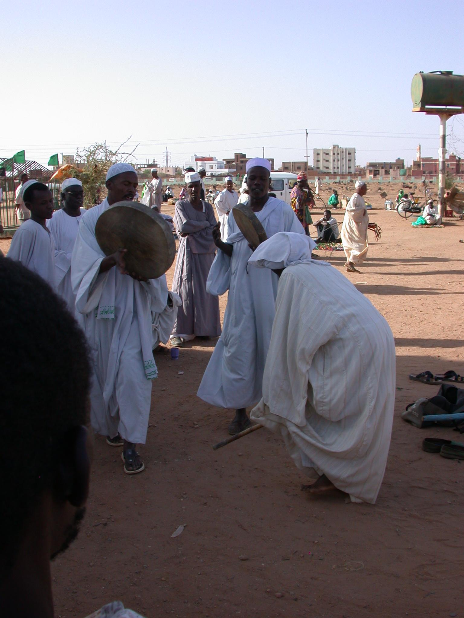 Drummers at Sufi Dancing Site, Omdurman, Sudan