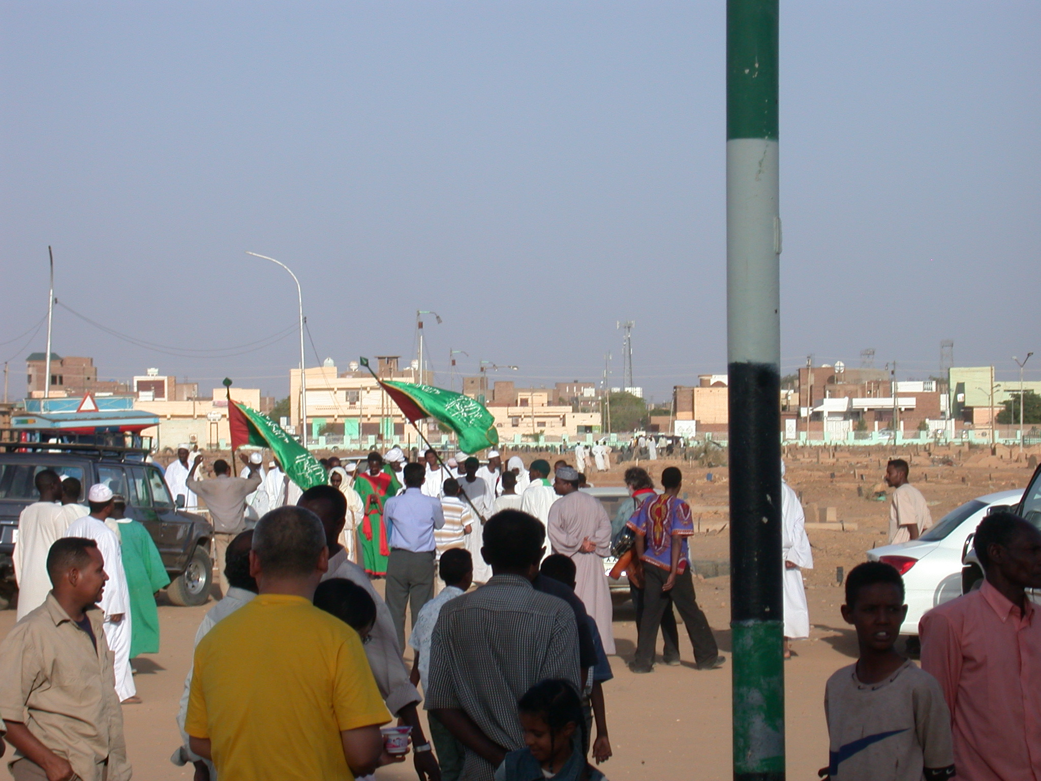 Processing Approaching Tomb at Sufi Dancing Site, Omdurman, Sudan