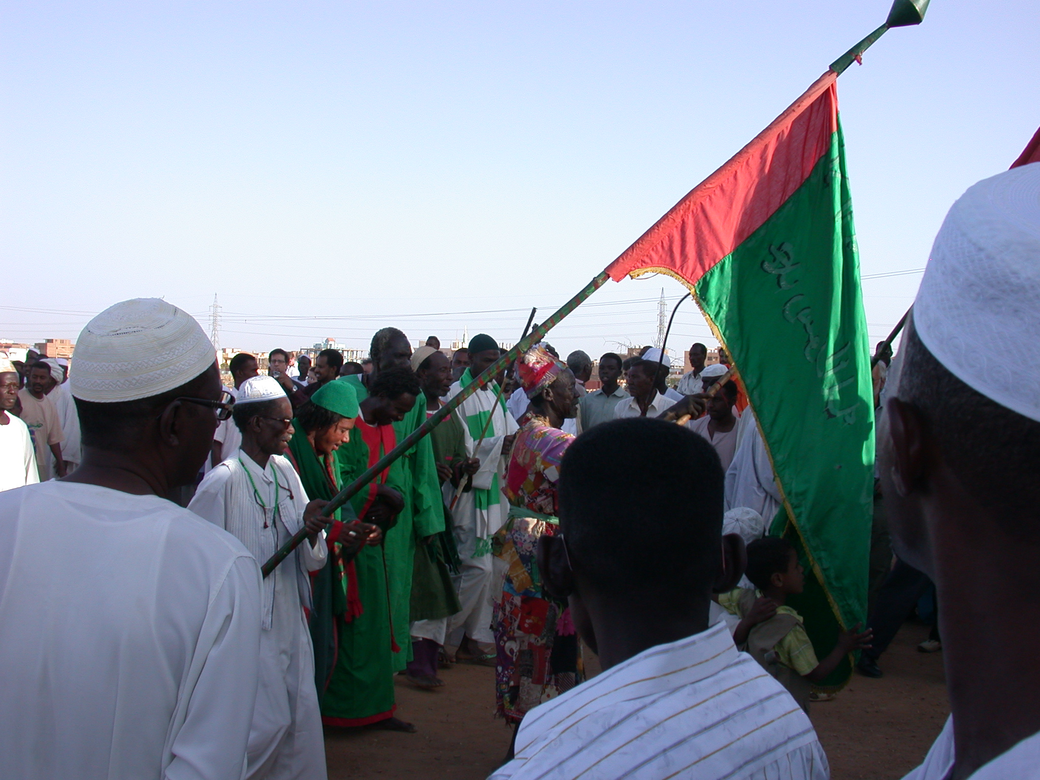 Procession Approaching Tomb at Sufi Dancing Site, Omdurman, Sudan