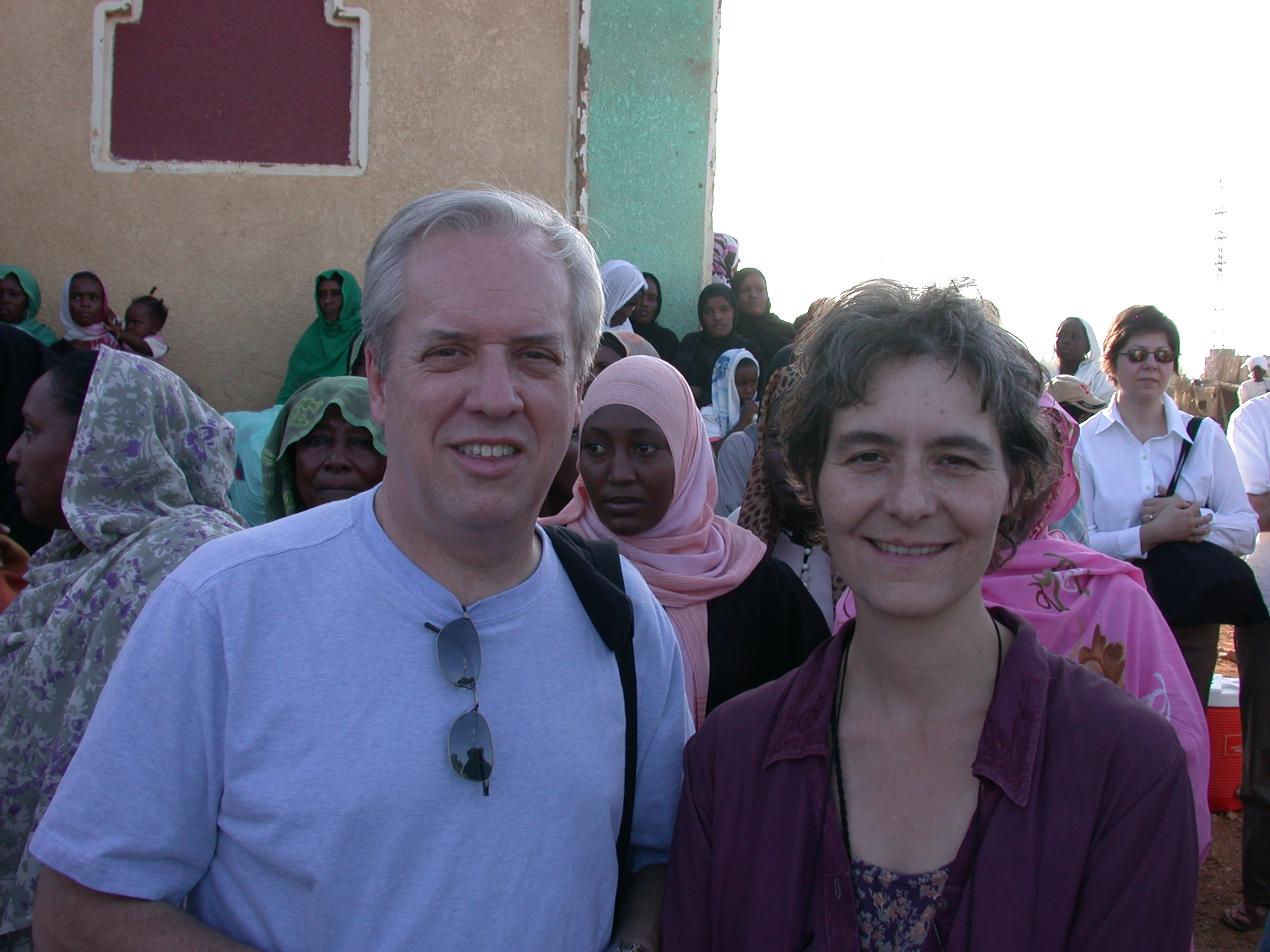 Phil and Rene at Sufi Dancing Site, Omdurman, Sudan