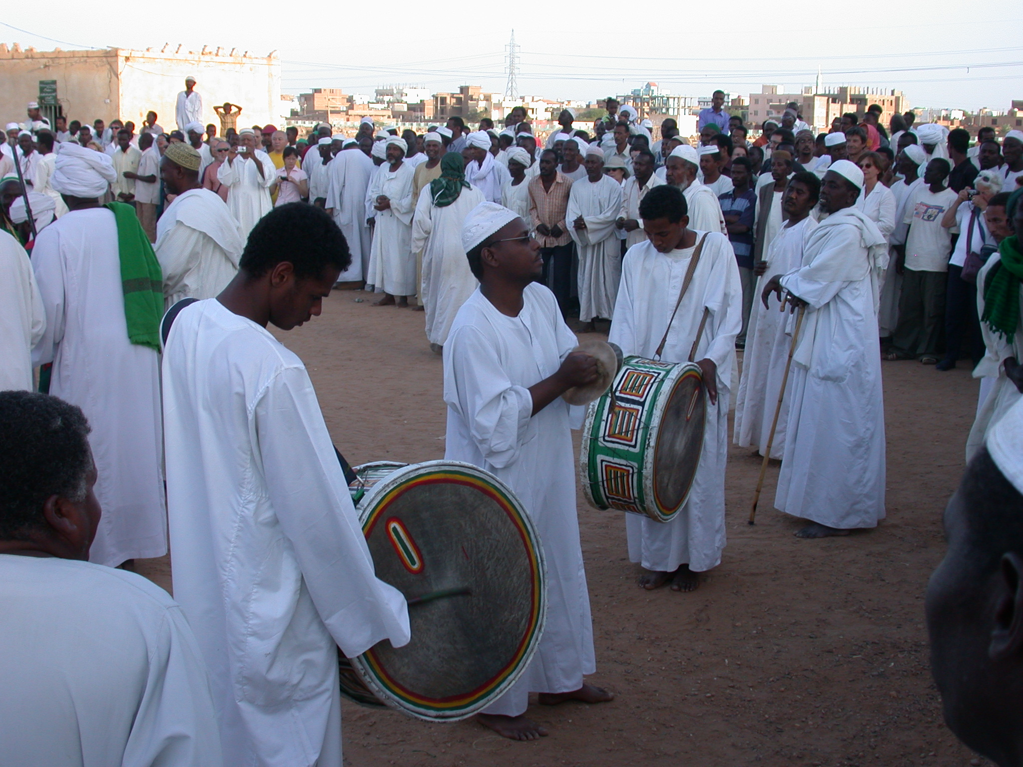 Ritual Drumming at Sufi Dancing Site, Omdurman, Sudan