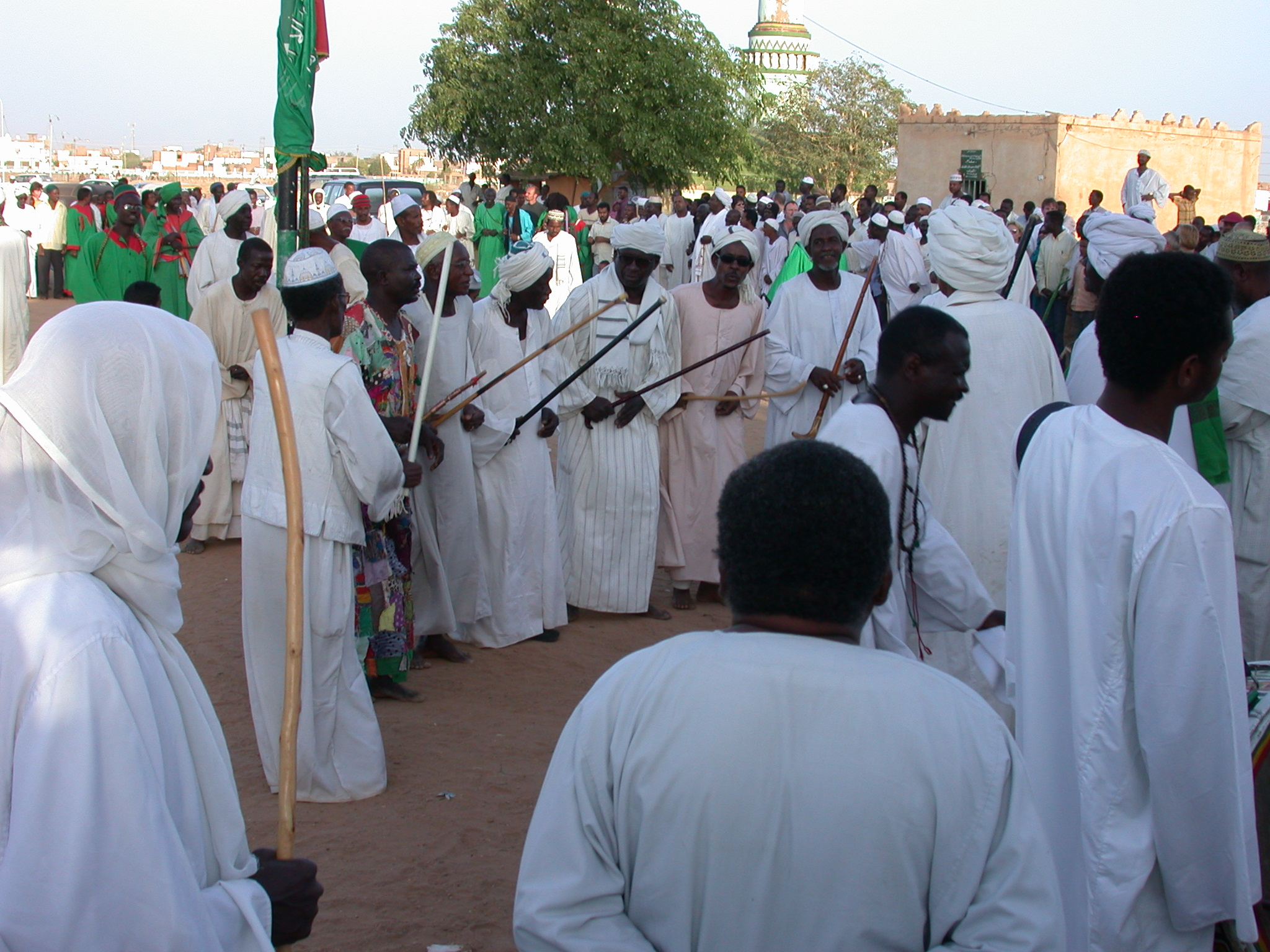 Line Dancing at Sufi Dancing Site, Omdurman, Sudan