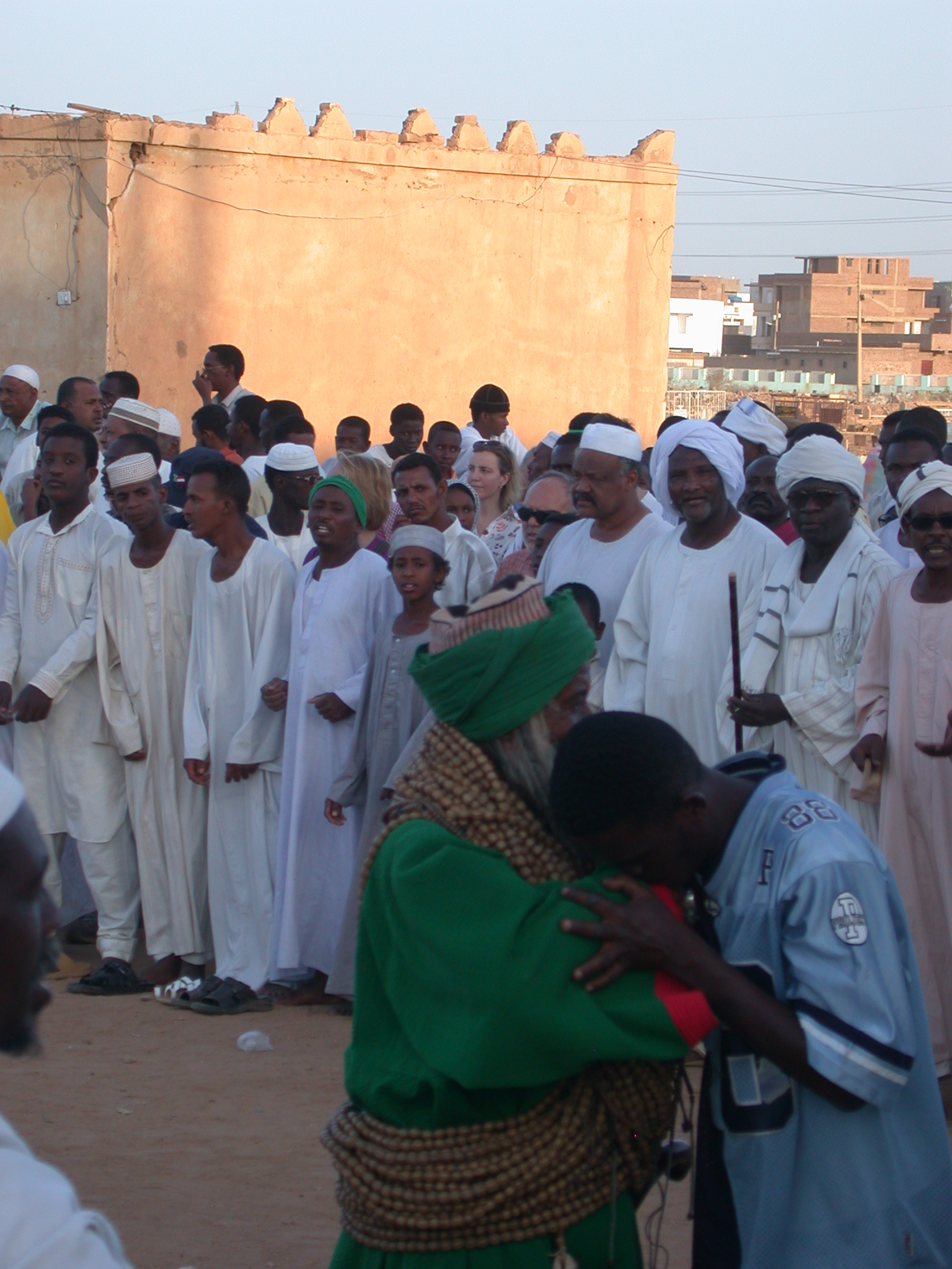 Sufis Embracing at Sufi Dancing Site, Omdurman, Sudan