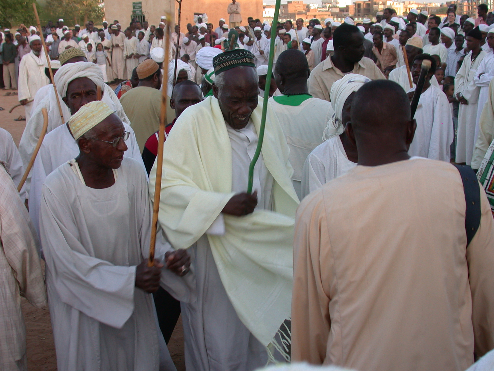 Man Entering Blissful Trance While Sufi Dancing, Omdurman, Sudan
